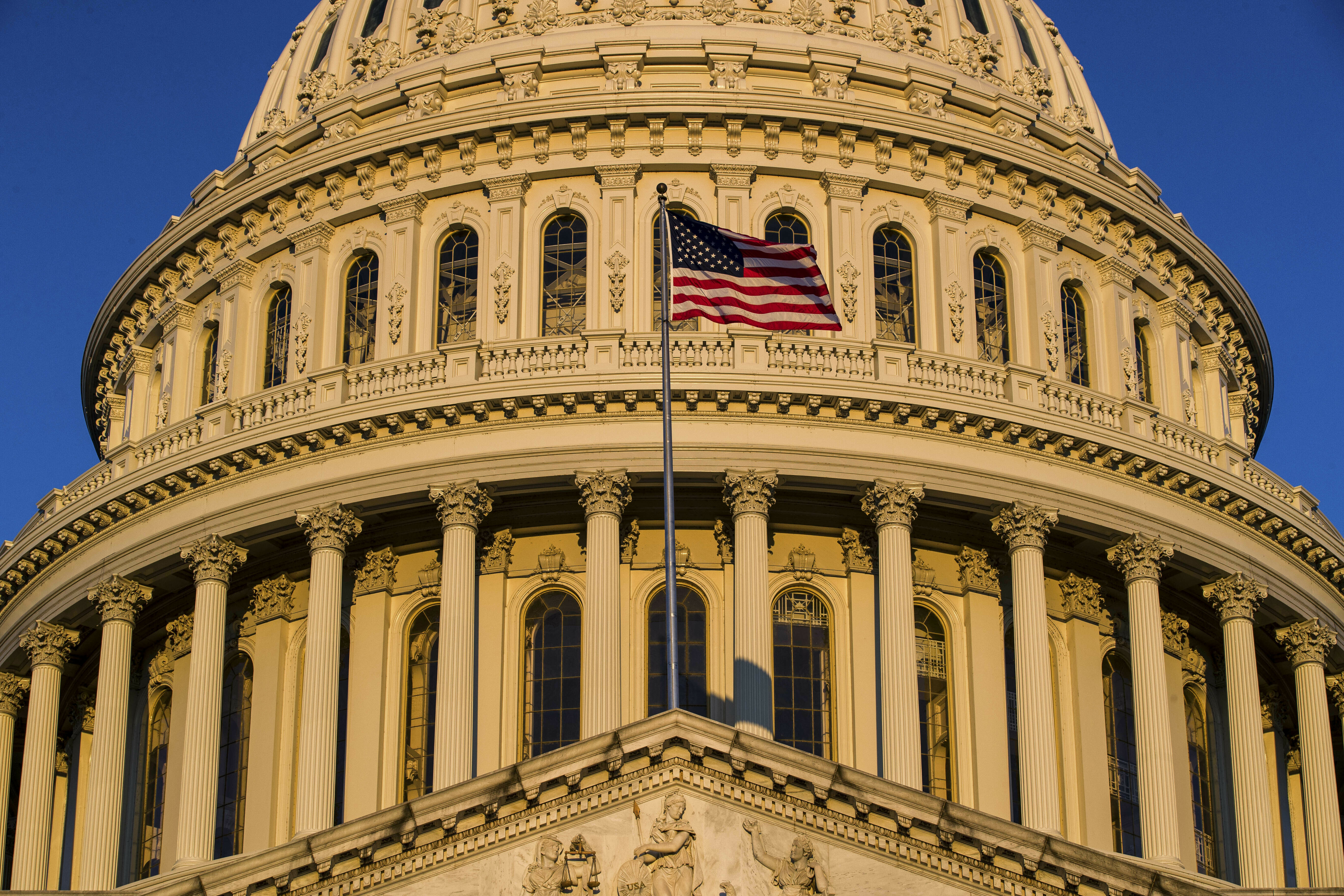 """FILE - In this March 24, 2019, file photo, the U.S Capitol is seen at sunrise in Washington. Progressive groups are expressing """"deep disappointment"""" over House Democrats' failure to start impeachment proceedings against President Donald Trump and calling"""