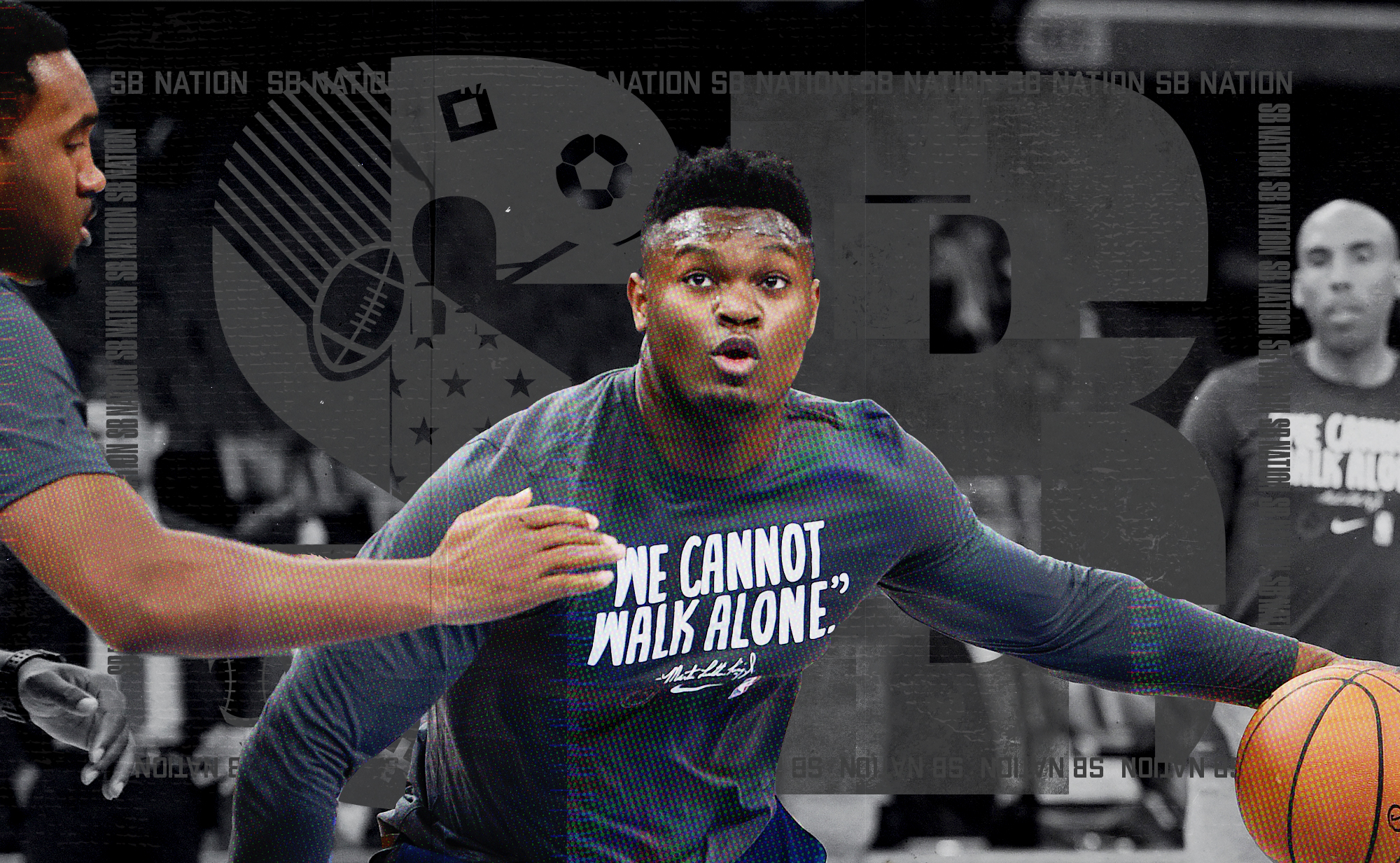 Zion Williamson practices for the Pelicans.