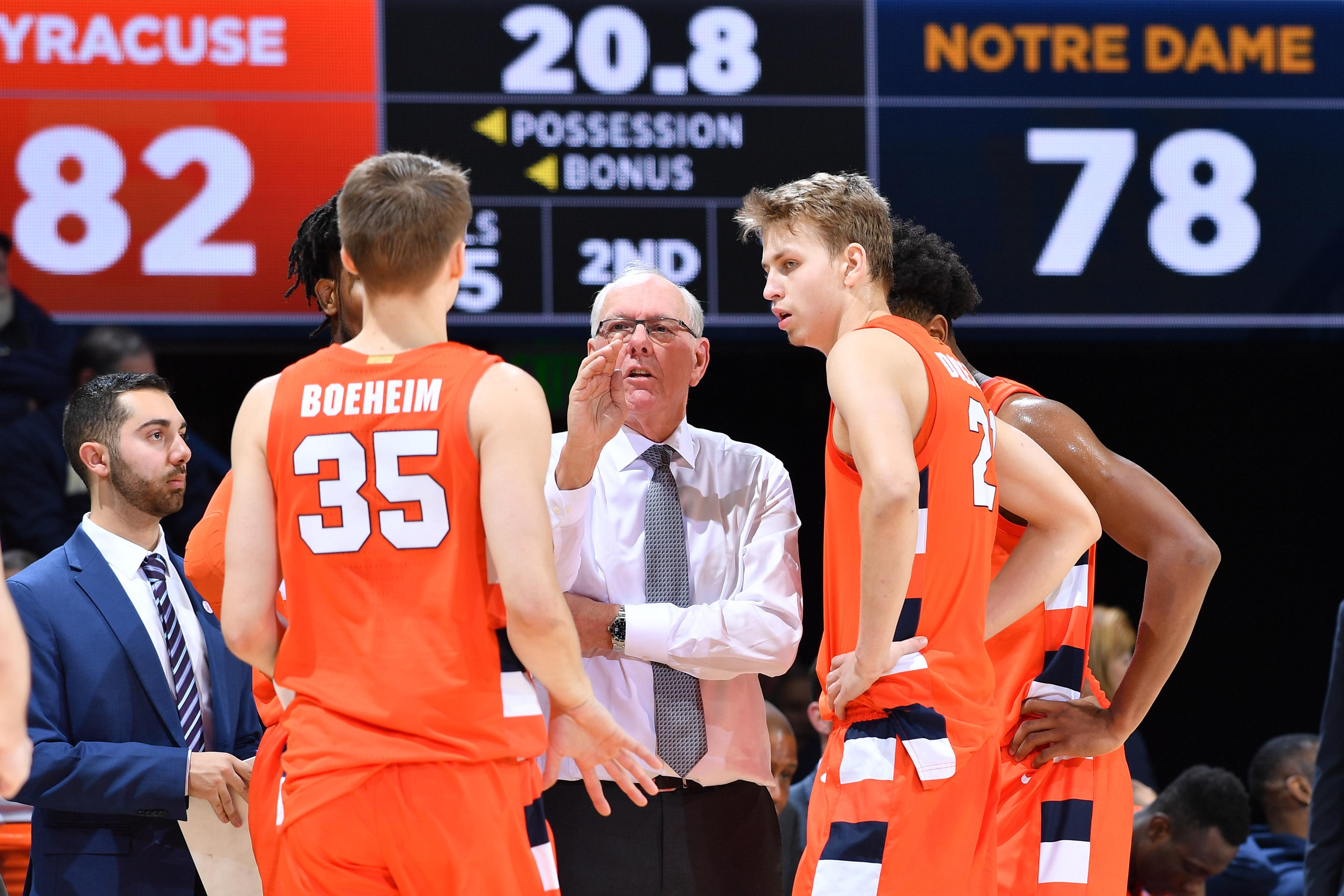 NCAA Basketball: Syracuse at Notre Dame