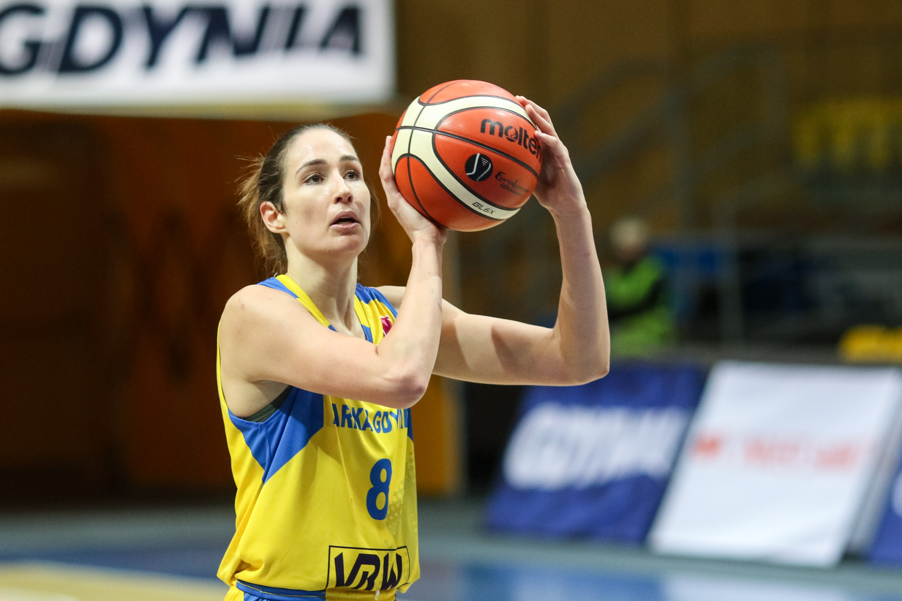 Rebecca Allen seen in action during the 7days EuroCup group...