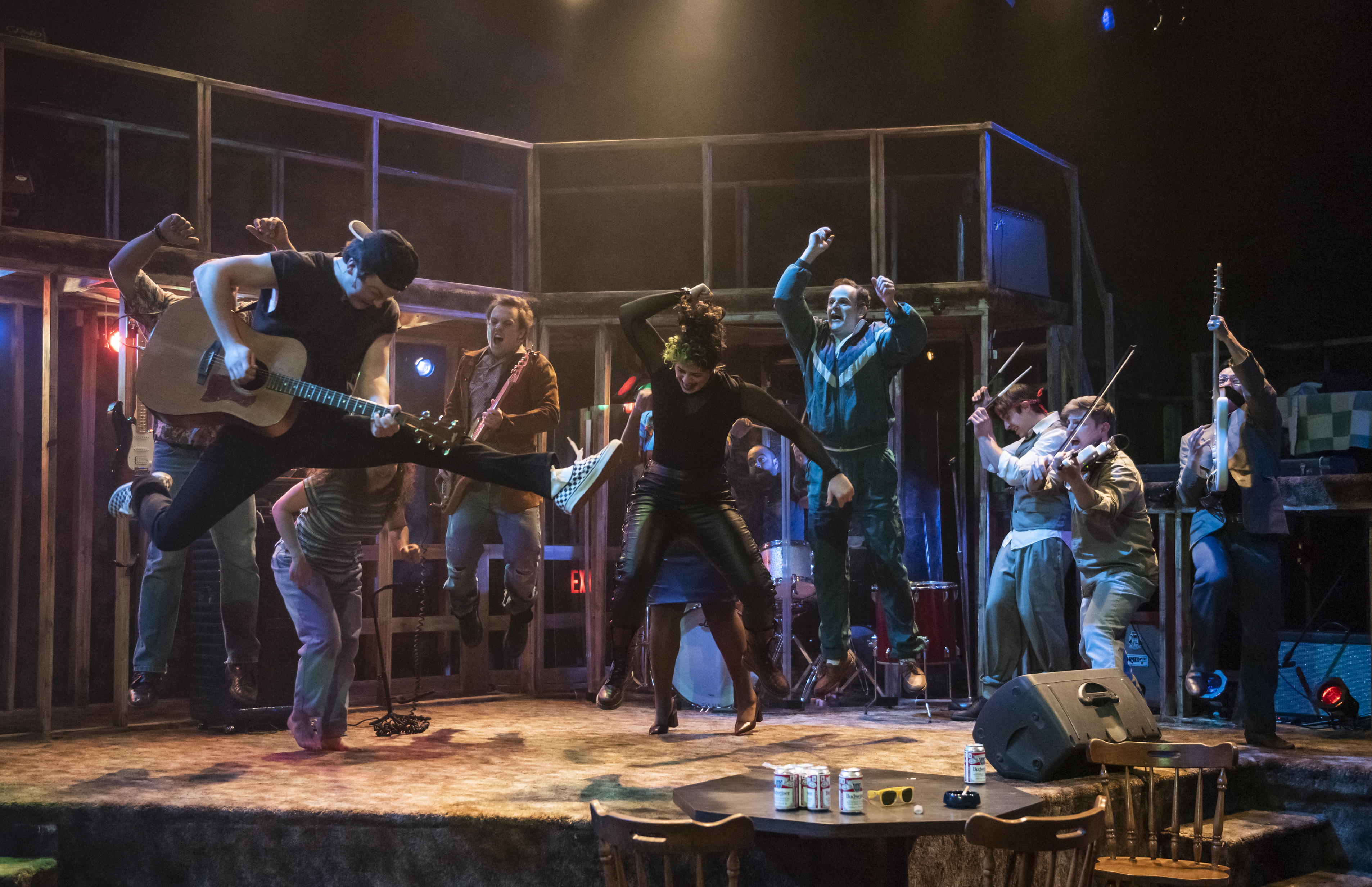"""Verböten, the teen band, plays their grown-up gig at the Cubby Bear in a scene from the musical """"Verböten."""""""