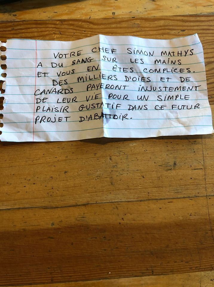 """Little Italy Restaurant Owners Optimistic, But """"On the Lookout"""" After Receiving Menacing Animal Rights Note in Mailbox"""