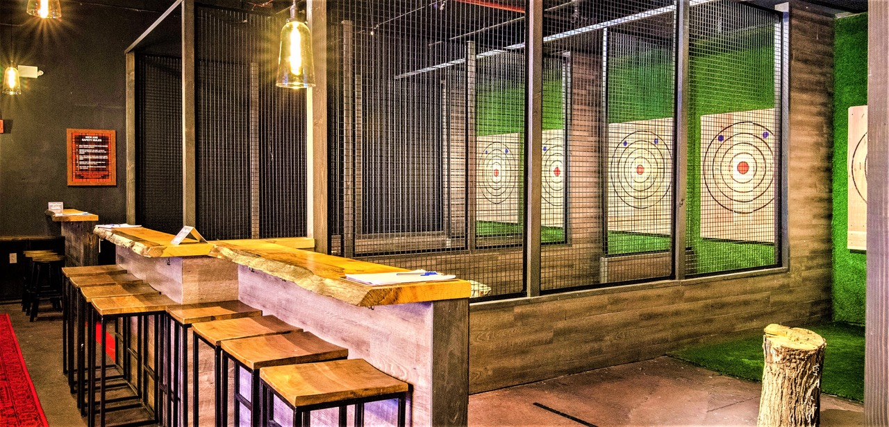 Axe throwing targets at Kick Axe Throwing