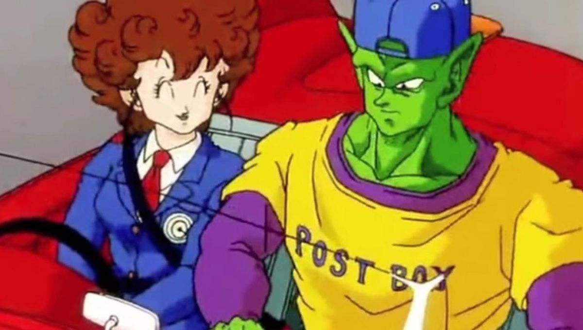 Piccolo wearing his unique Driver's outfit