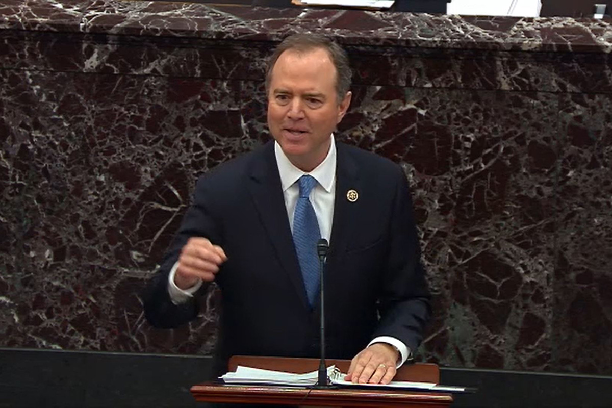 "Schiff ends day in the impeachment trial by telling the Senate, ""If right doesn't matter, we're lost"""