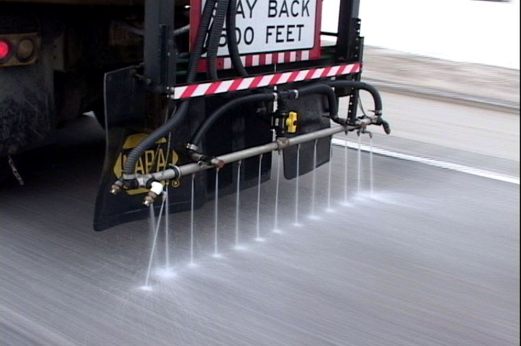image of road being deiced
