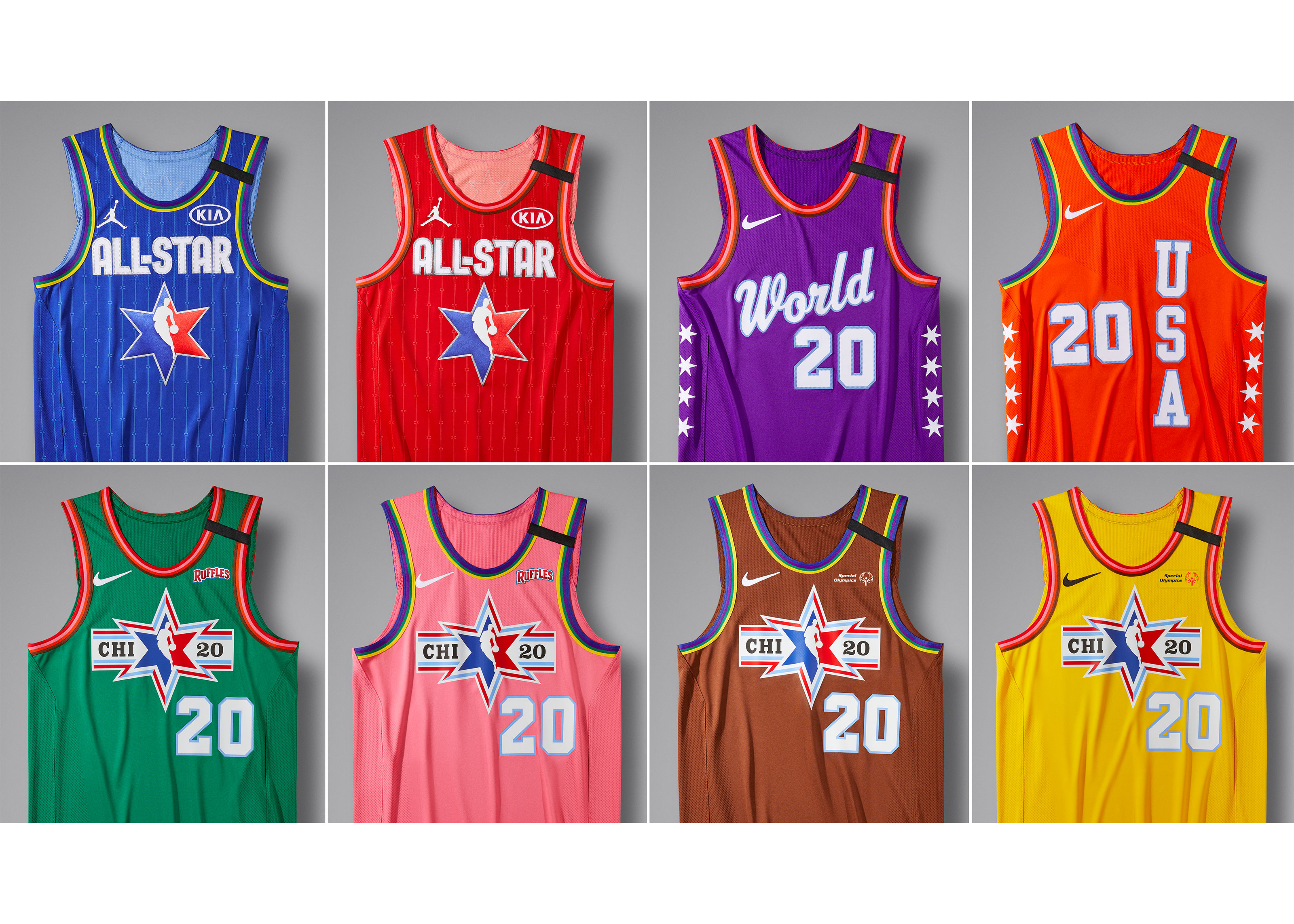 The NBA's All-Star Weekend uniforms are based on the colors of Chicago's L lines.