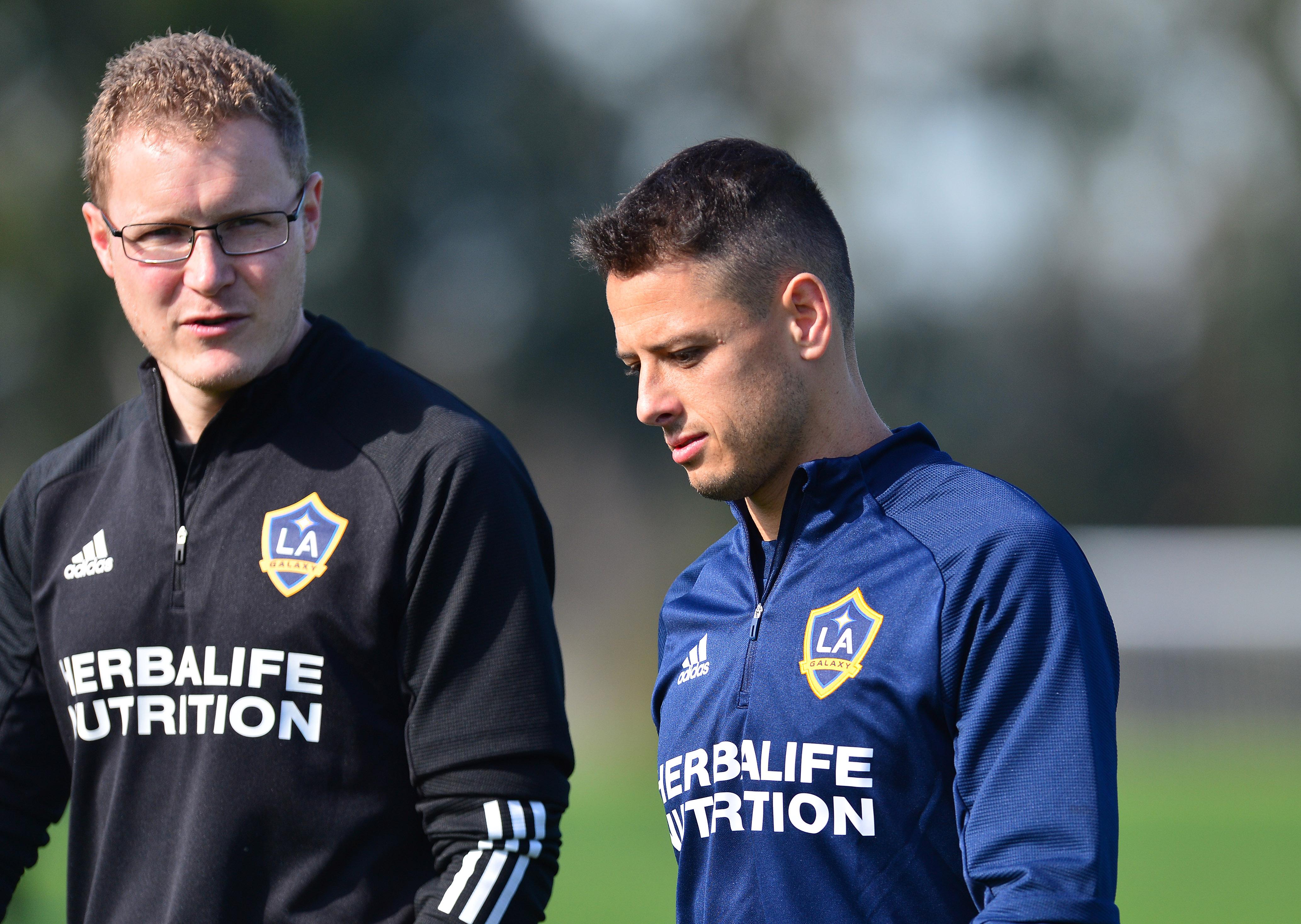 MLS: Los Angeles Galaxy-Javier Chicharito Hernandez Press Conference