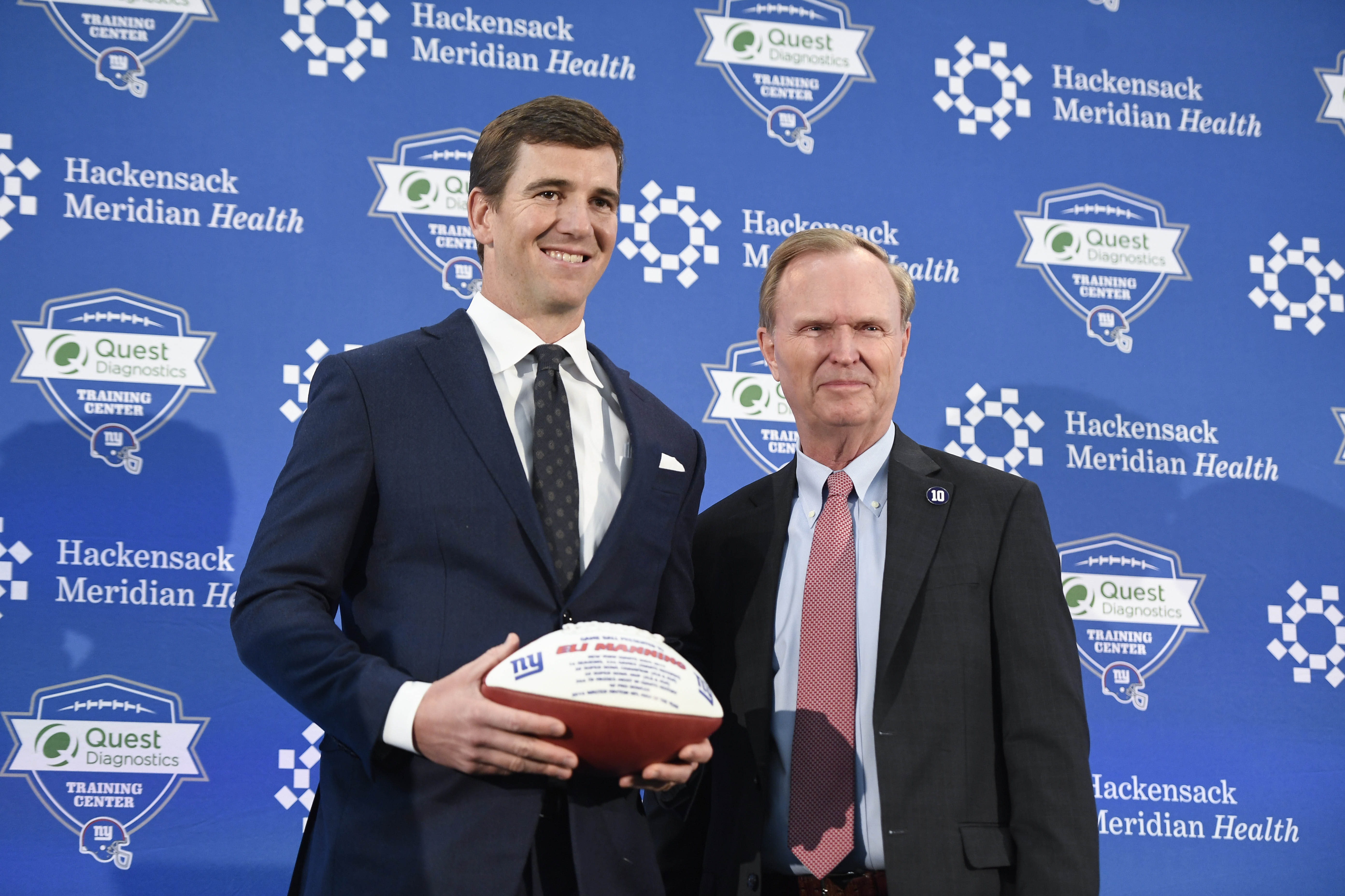 NFL: New York Giants-Eli Manning Retirement Press Conference