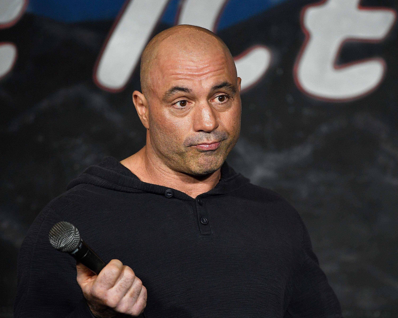 Comedian Joe Rogan onstage.