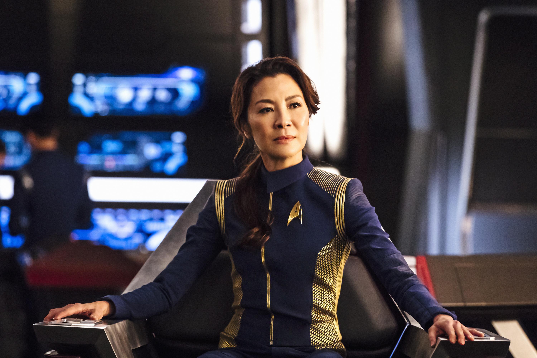 "Michelle Yeoh as Captain Philippa Georgiou in ""Star Trek: Discovery."""