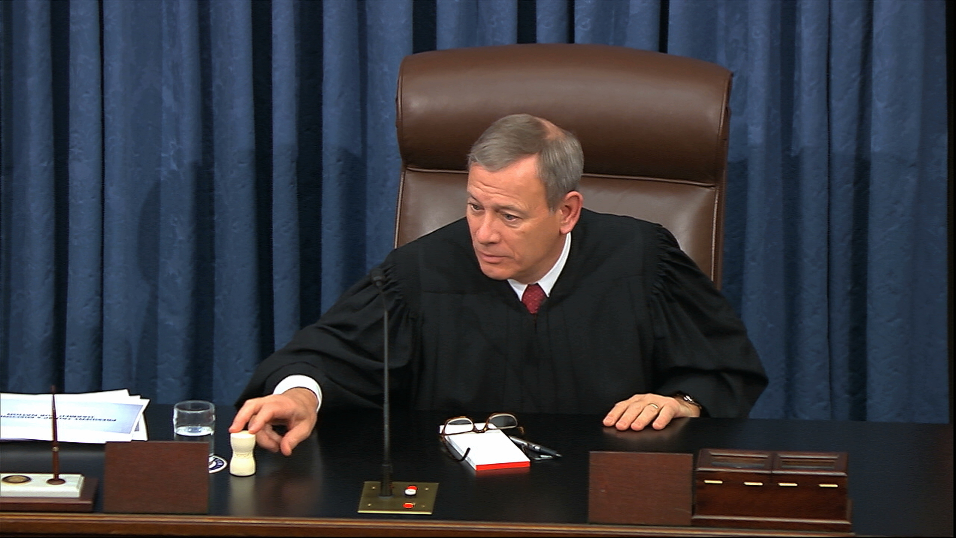 As chief justice of the U.S. Supreme Court, John Roberts presides at the impeachment trial of President Donald Trump.