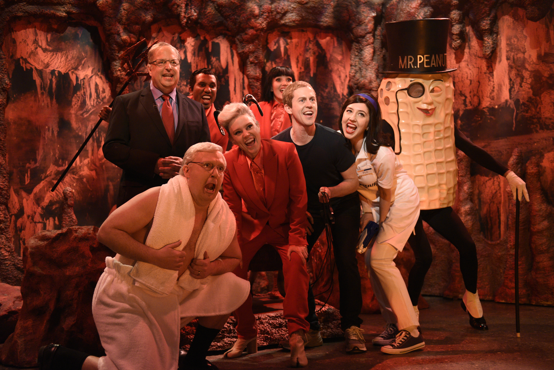Jon Lovitz as Alan Dershowitz visits a hell filled with Mitch McConnell, Mark Zuckerberg, Jeffrey Epstein, and Mr. Peanut.