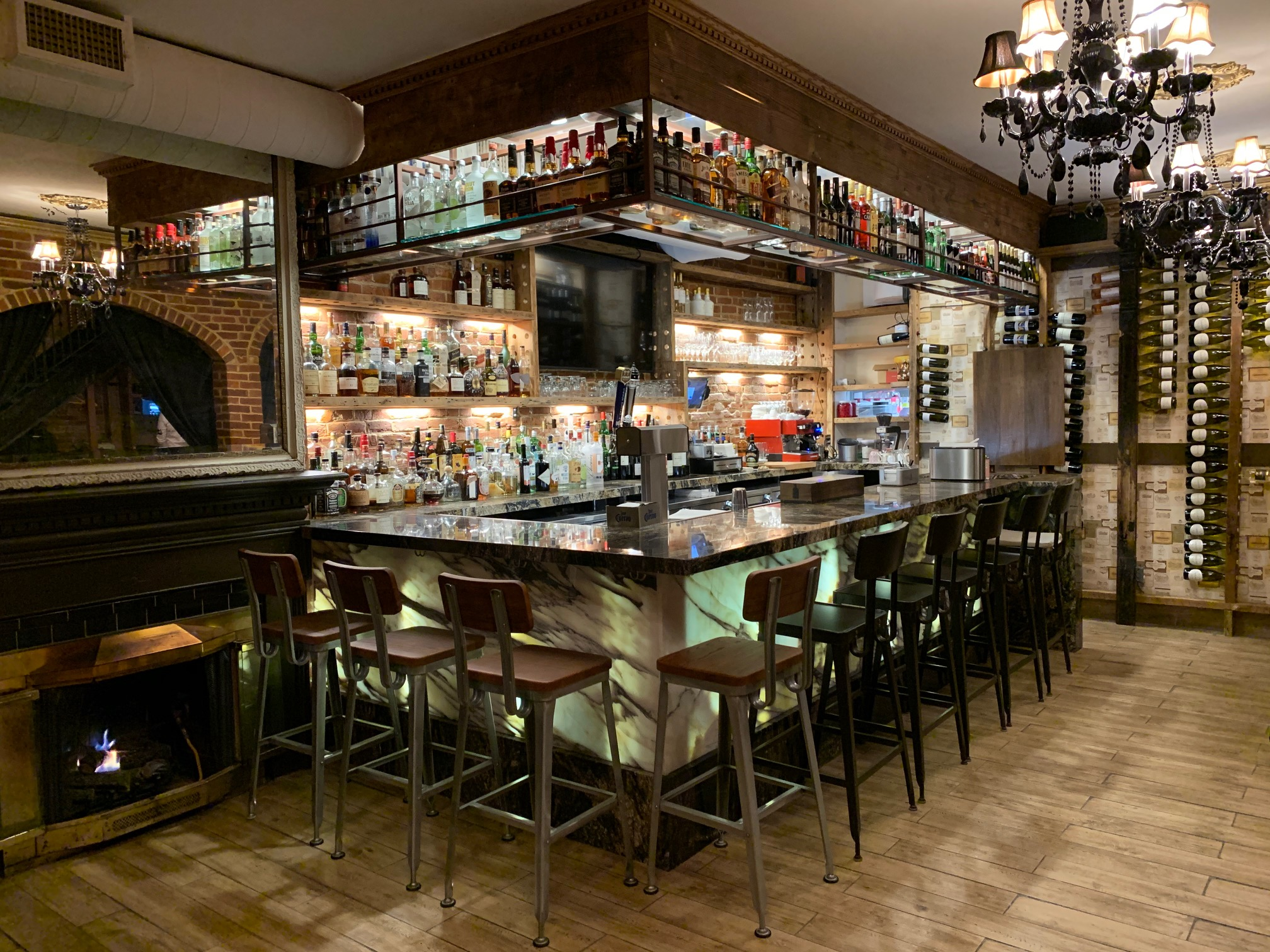 The bar at Bistro Cacao's new location next-door to the original on Massachusetts Avenue NE