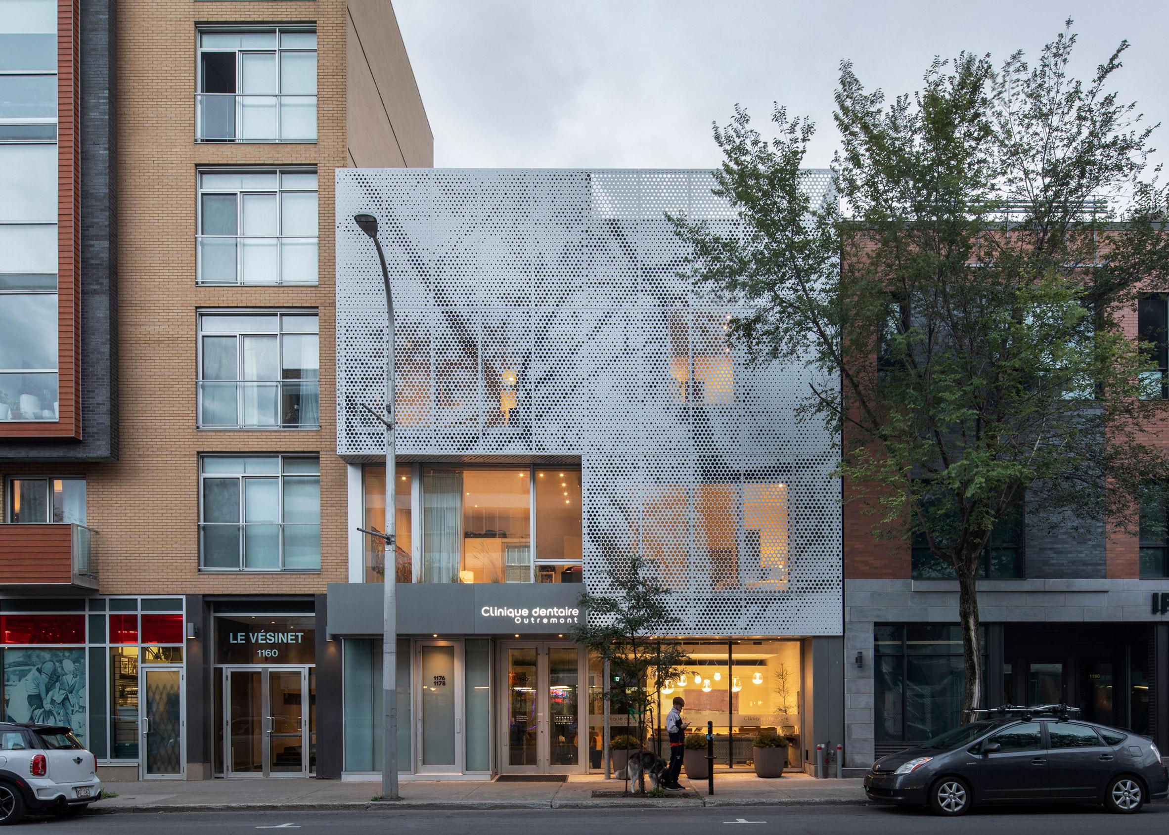 Modern loft-style apartments built atop a dentist's office