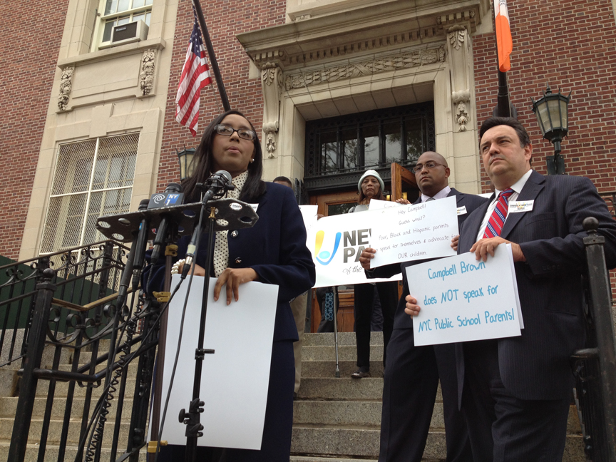 Mona Davids (left) is a plaintiff in a lawsuit challenging New York's job-protection laws for teachers.