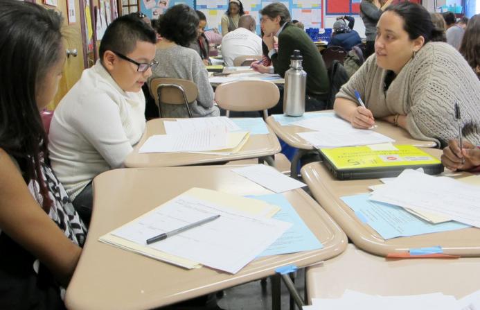 Teachers gathered in New York City