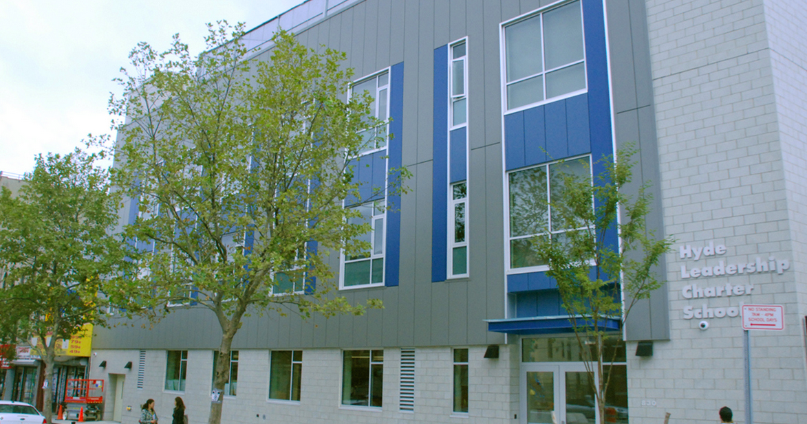 Hyde Leadership Charter School, a K-12 school that moved into a private facility in 2012. Hyde is one of more than 60 New York City charter schools that operate in private space.