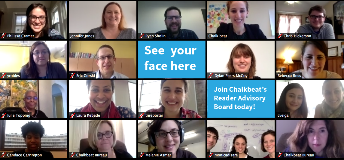 Support our journalism by joining Chalkbeat's Reader Advisory Board.