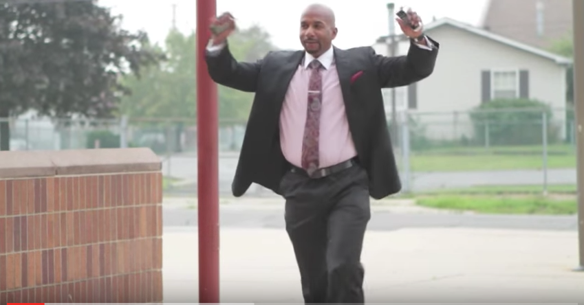 """River Rouge Superintendent Derrick Coleman, one of two finalists to become the next leader of the Detroit Public Schools Community District, appeared in a 2012 video that called him a """"school superhero."""""""
