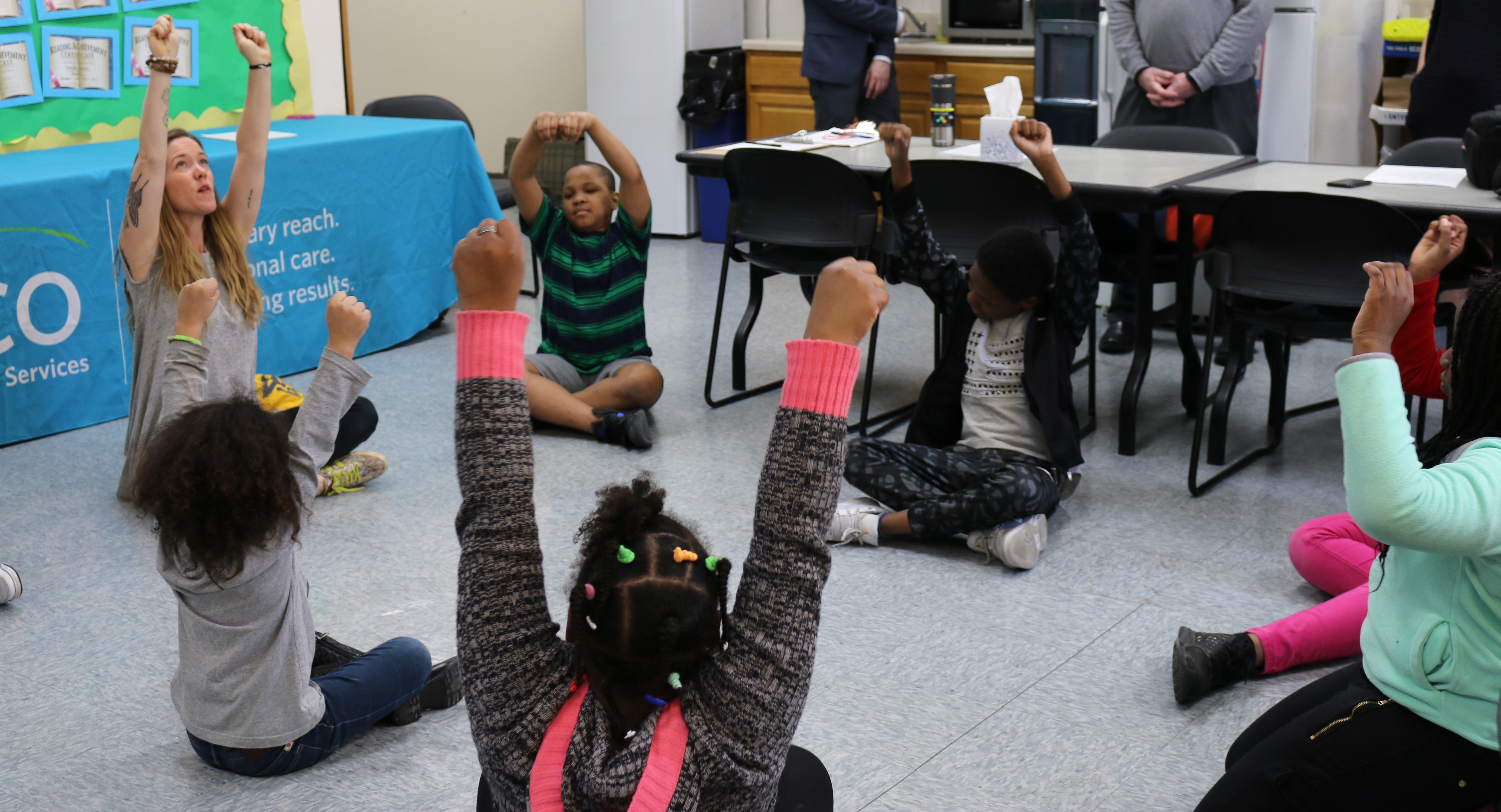 Students at the Flushing Family Residence, a shelter for homeless families, participate in a previous spring arts camp. The city is promising to wire all family shelters with Wi-Fi access.