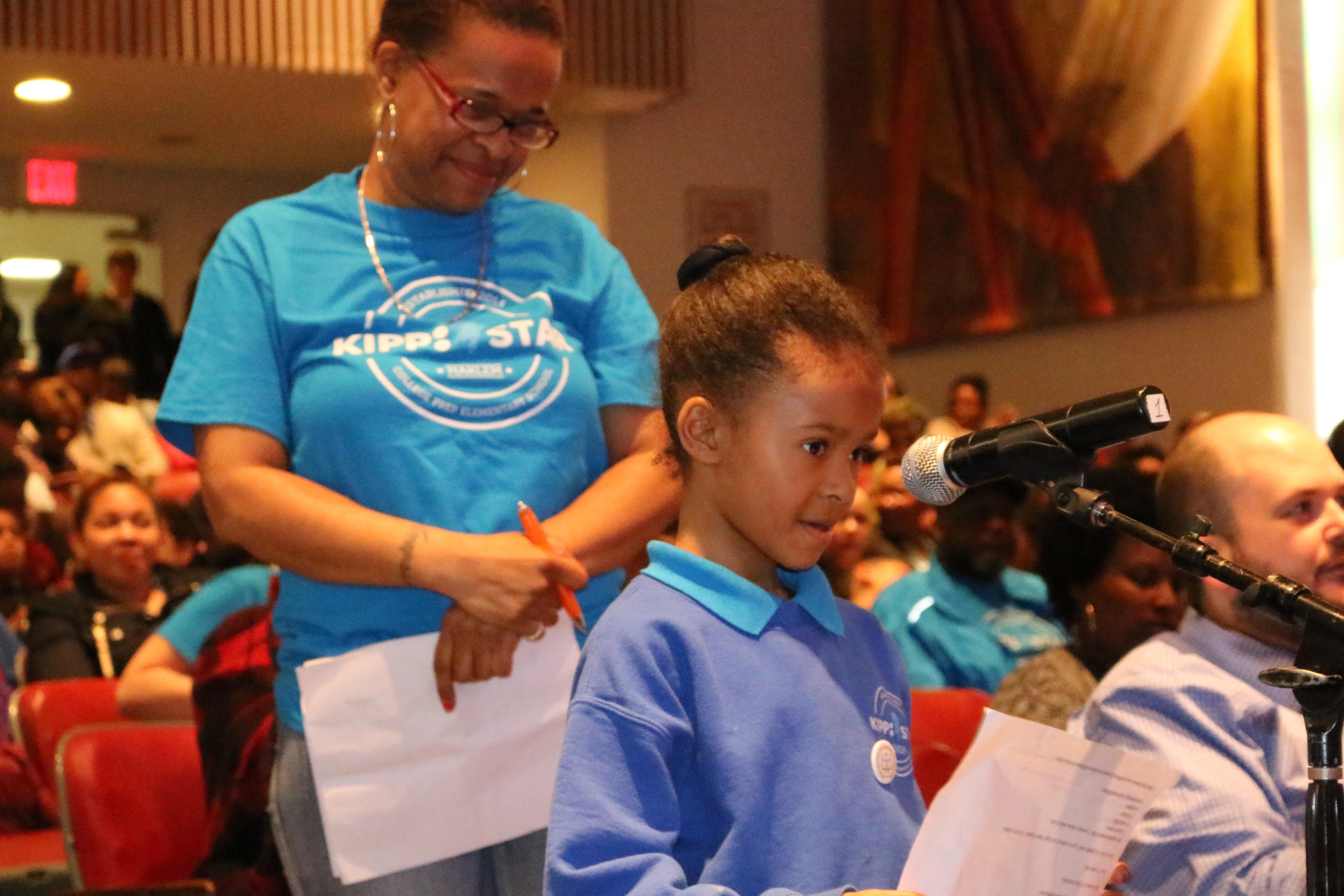 Nyla Jenkins, a first-grader at KIPP STAR Harlem College Prep Charter School