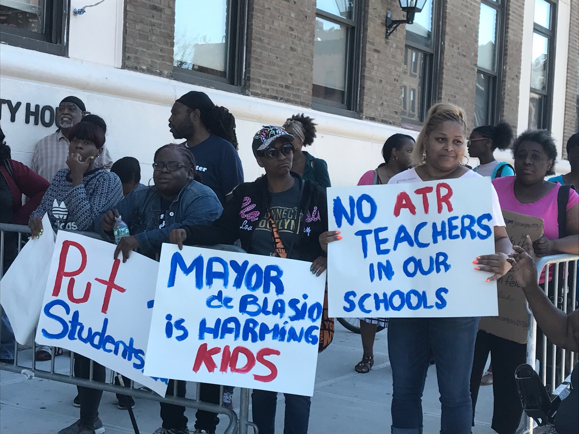 The group StudentsFirstNY staged a rally this summer to protest the city's plan to place educators in the Absent Teacher Research in schools with job openings.