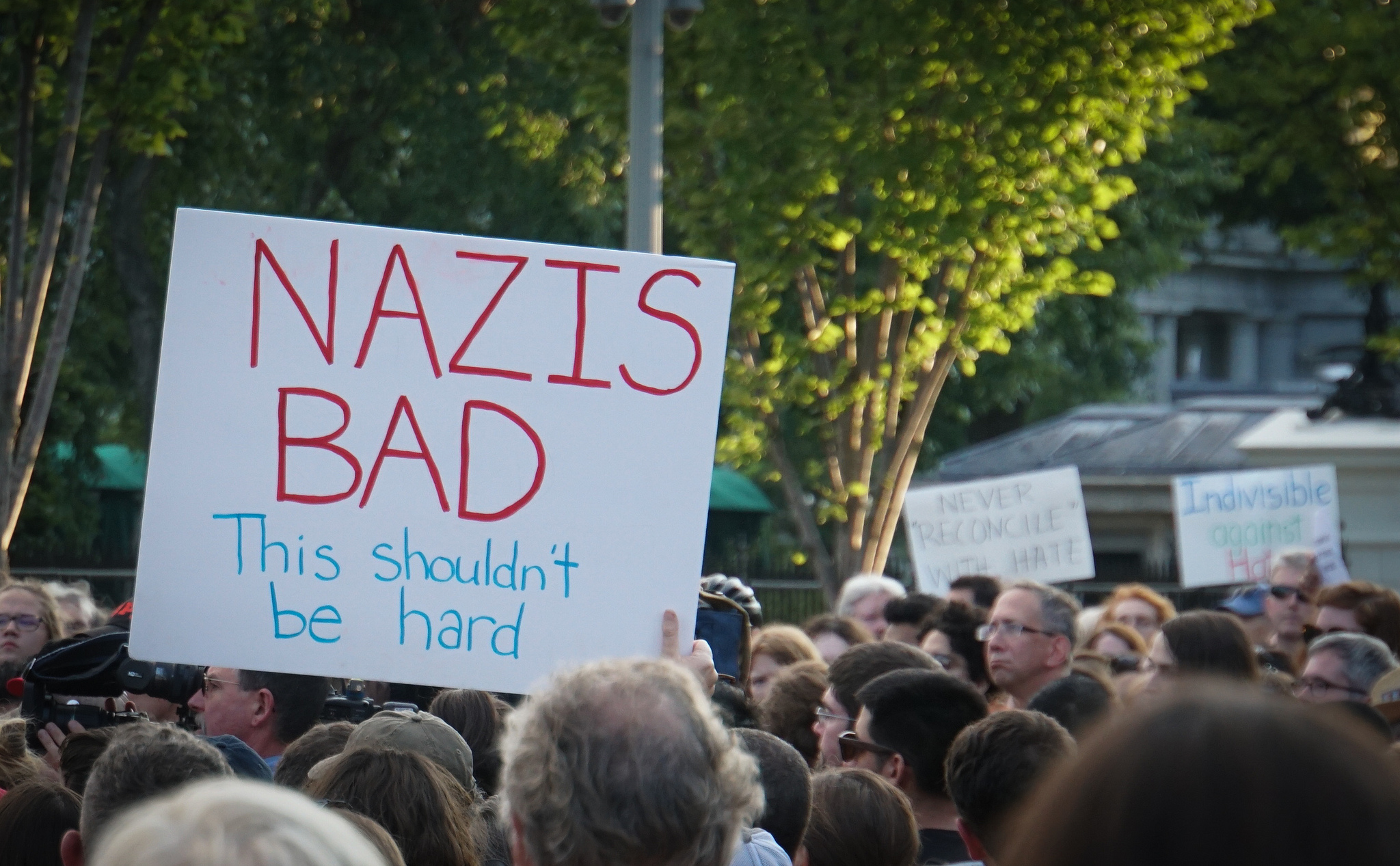 A candlelight vigil at the White House on Sunday, after the racist violence in Charlottesville, Virginia.