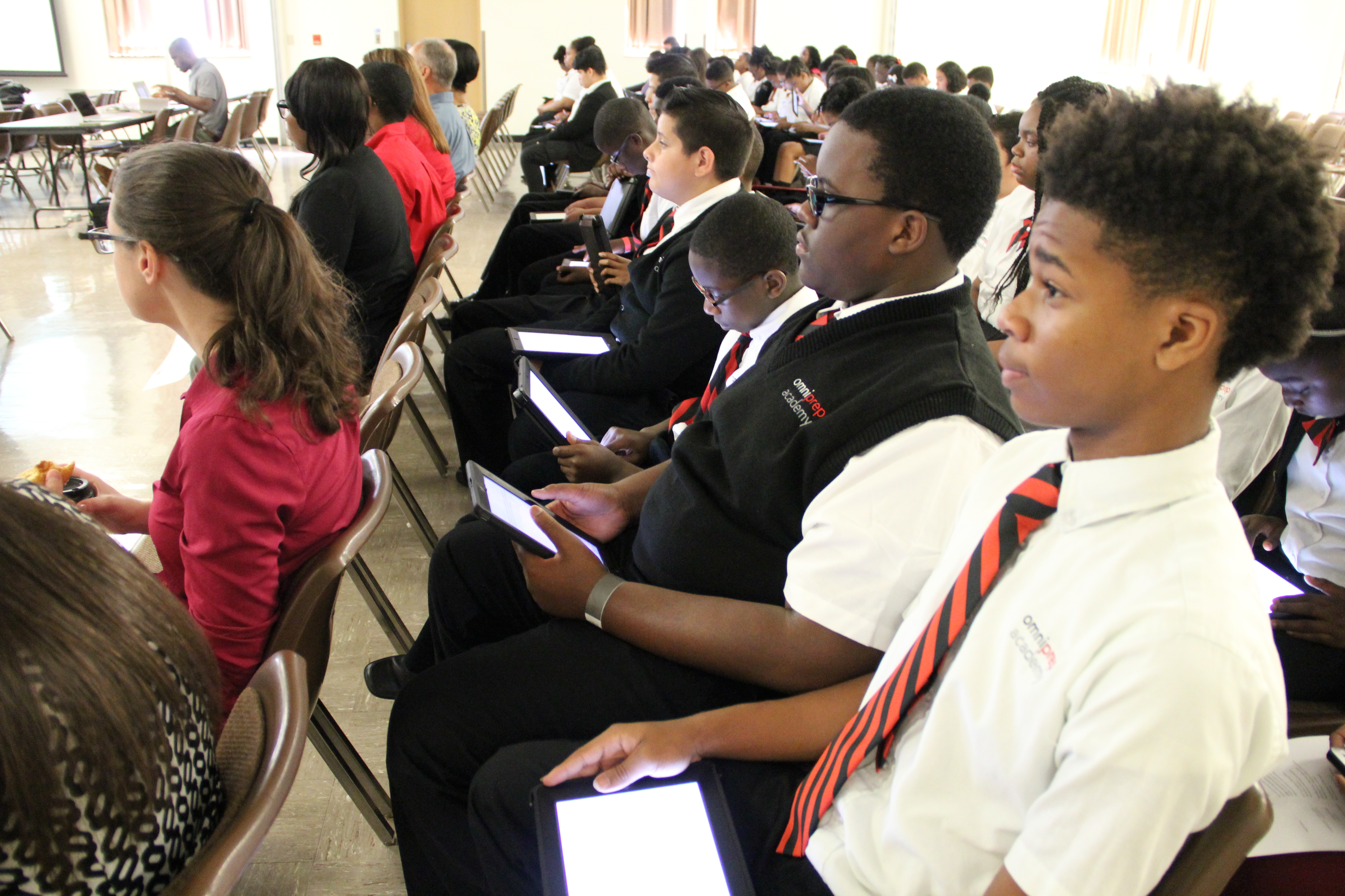 Students at Omni Prep Academy attend an appeal hearing in 2015 before the State Board of Education over its unsuccessful effort to open a third school in Memphis.