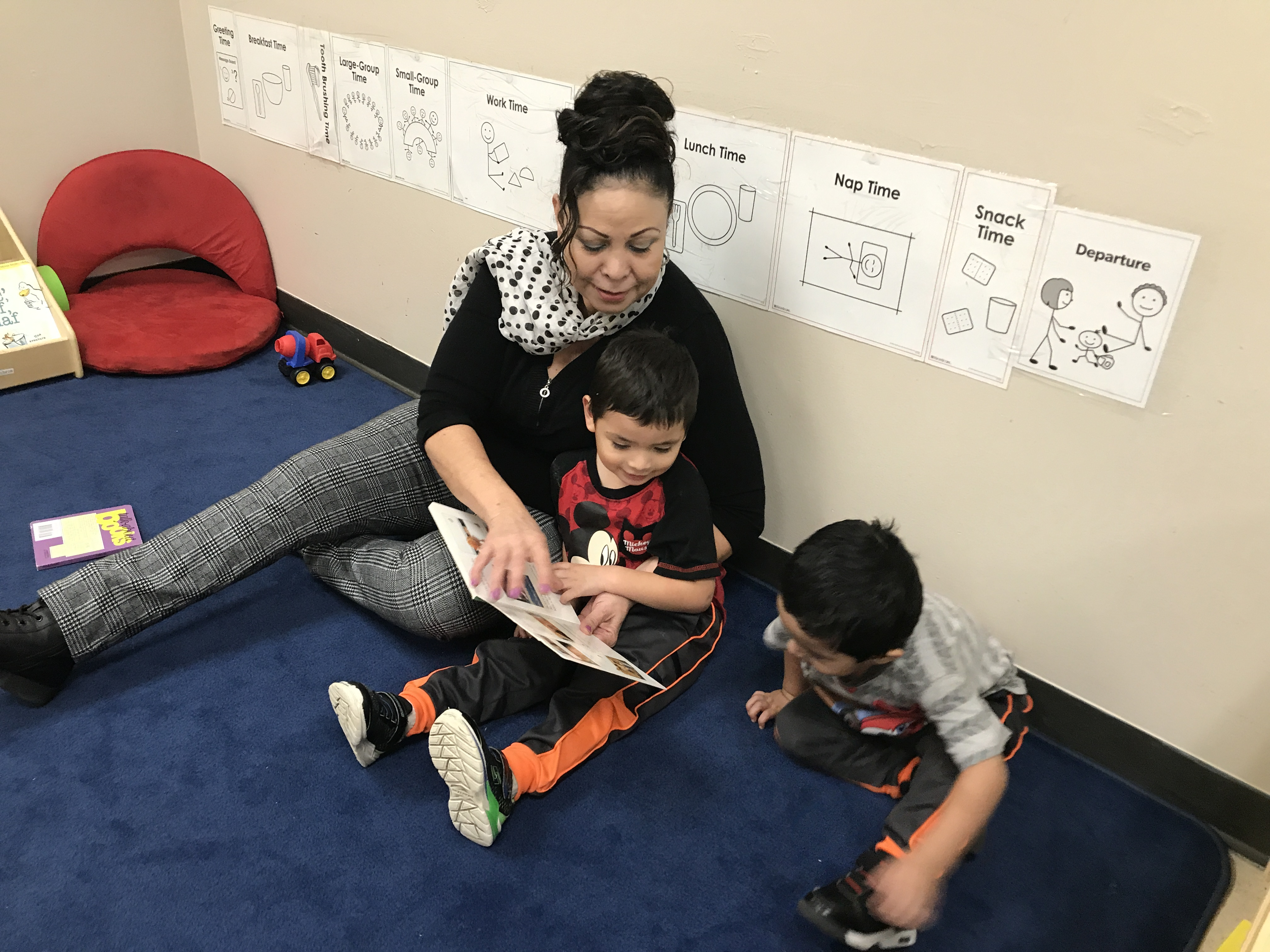 """Evangelina De La Fuente, worries that the Head Start her 3-year-old twin grandsons attend could close or change. """"The babies are secure and they're happy and they're well fed and they're well taken cared for. It's scary to think it could change,"""" she said."""