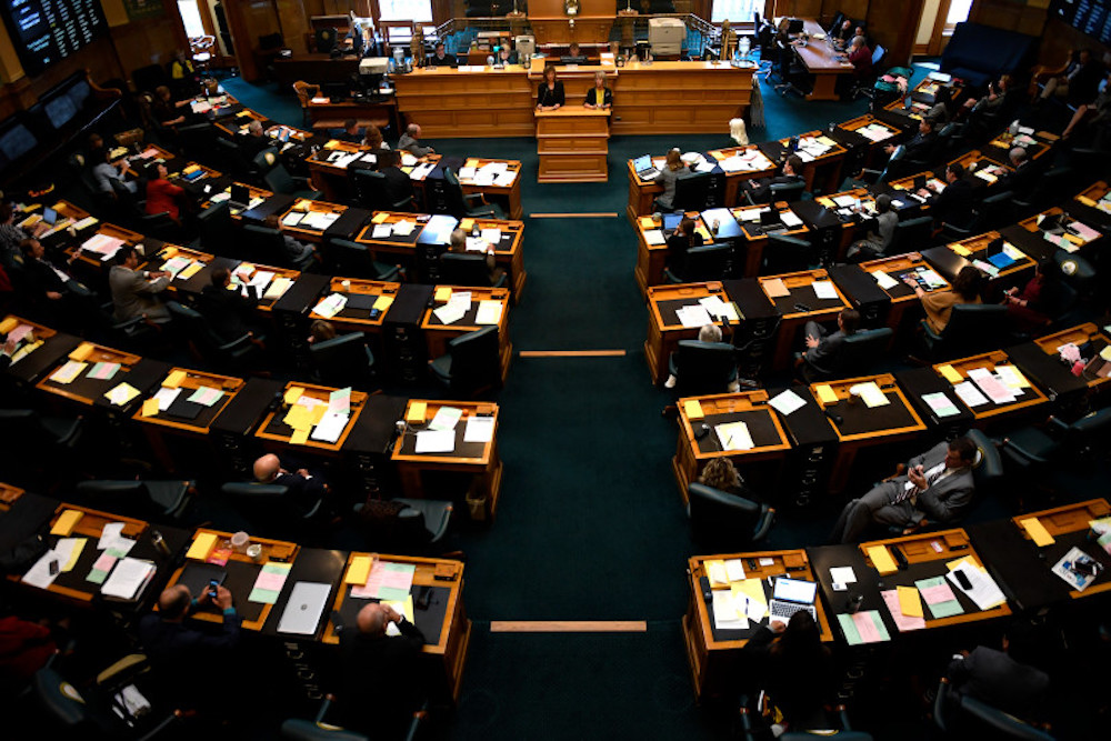 State Reps. Millie Hammer and Barbara McLachlan, both Democrats, speak during the 2017 special session. (Denver Post File photo)