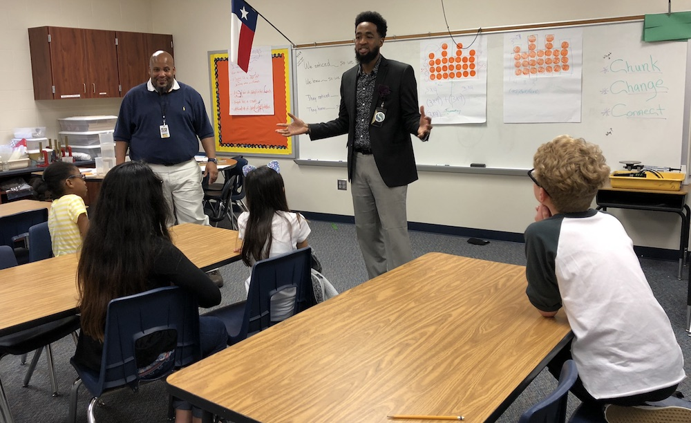 Terrance O'Neil, left and Tim Livingston will participate in the first-ever Great American Teach-Off March 7.
