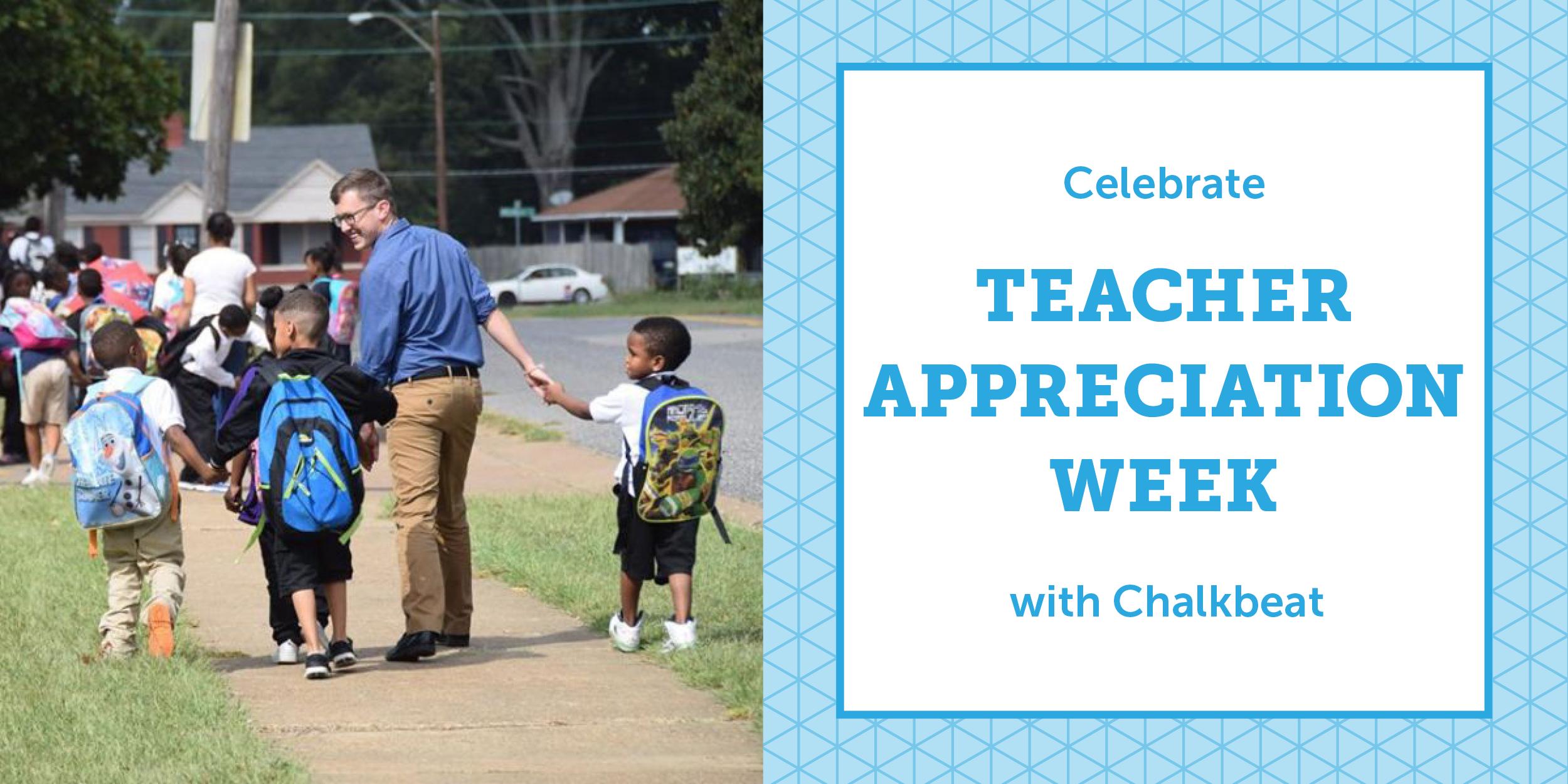 Chris Hill, a Memphis teacher, walks his students home after school. (Photo courtesy Chris Hill)