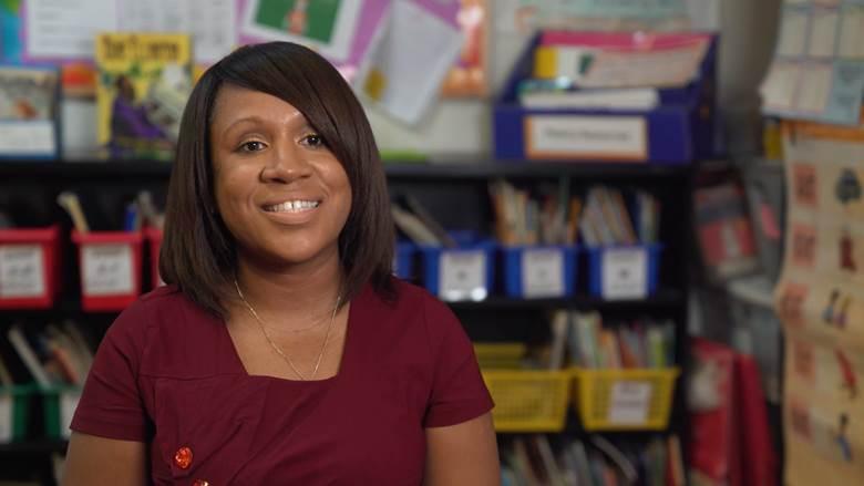 Dawn DeCosta, the principal of Thurgood Marshall Academy Lower School