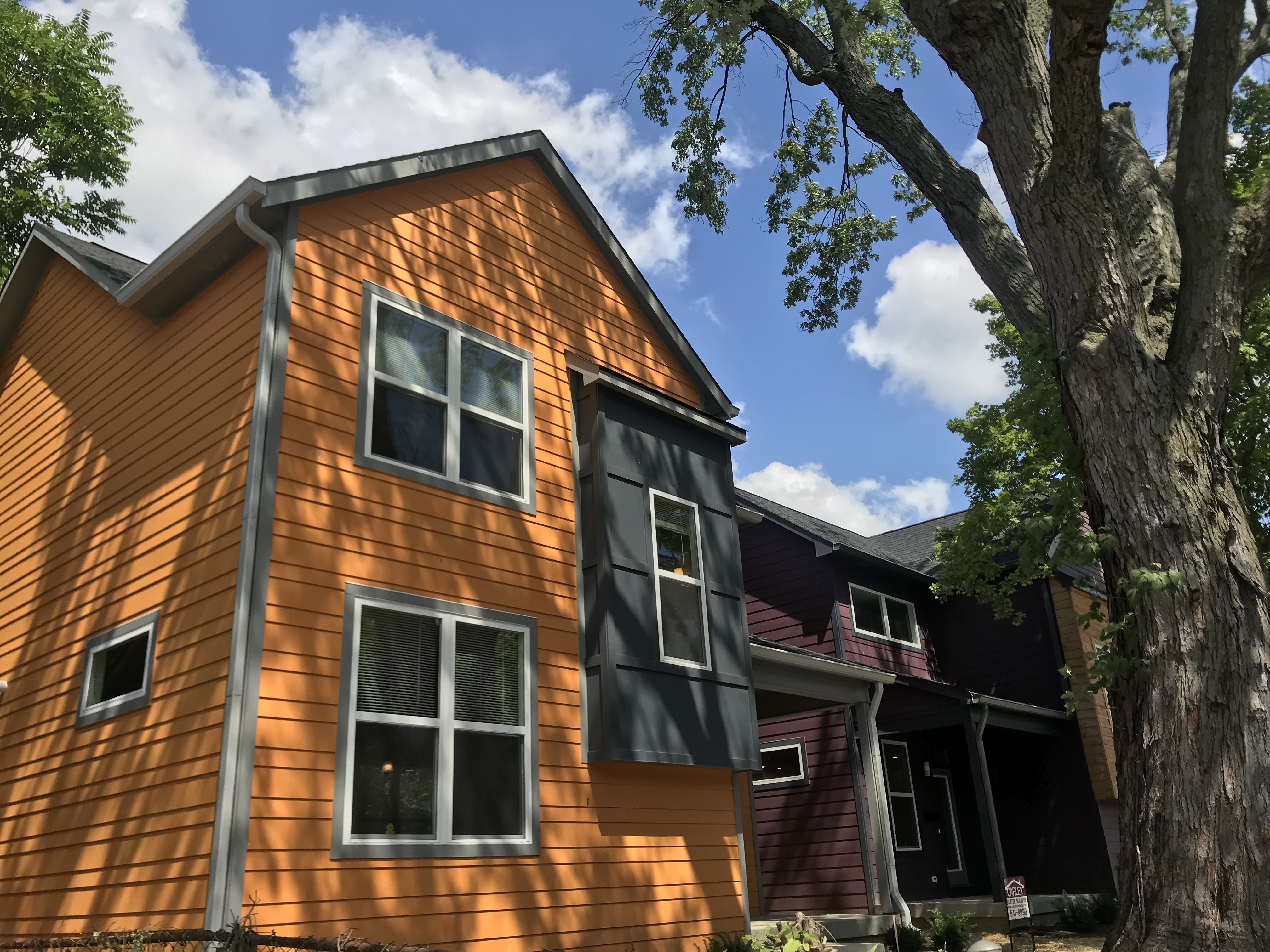 The Educators' Village is a two-block cluster of 22 new and restored bold-colored homes in the St. Clair Place neighborhood. Though marketed to teachers, the homes are set at below-market prices for anyone within a low- to middle-income cap.