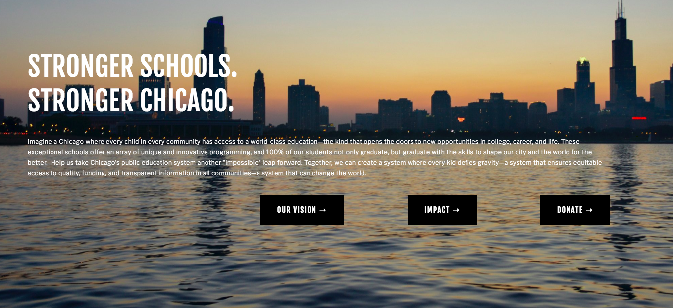 The Kids First Chicago website