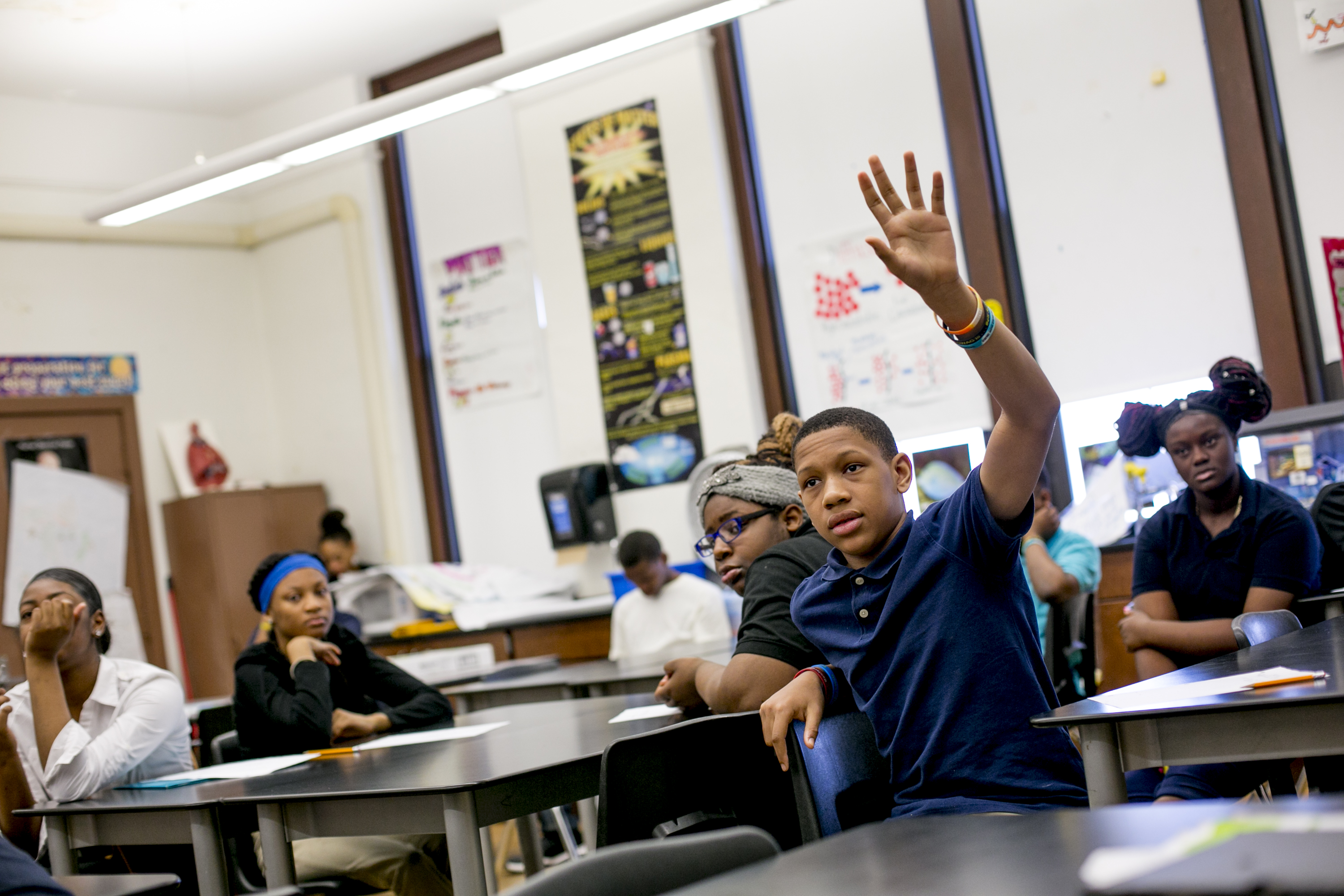Jamarie Samuel attended seven schools by eighth grade, enrolling mid-seventh grade at Bethune Elementary-Middle School which, like many schools in Detroit, has chronic problems with students switching schools.