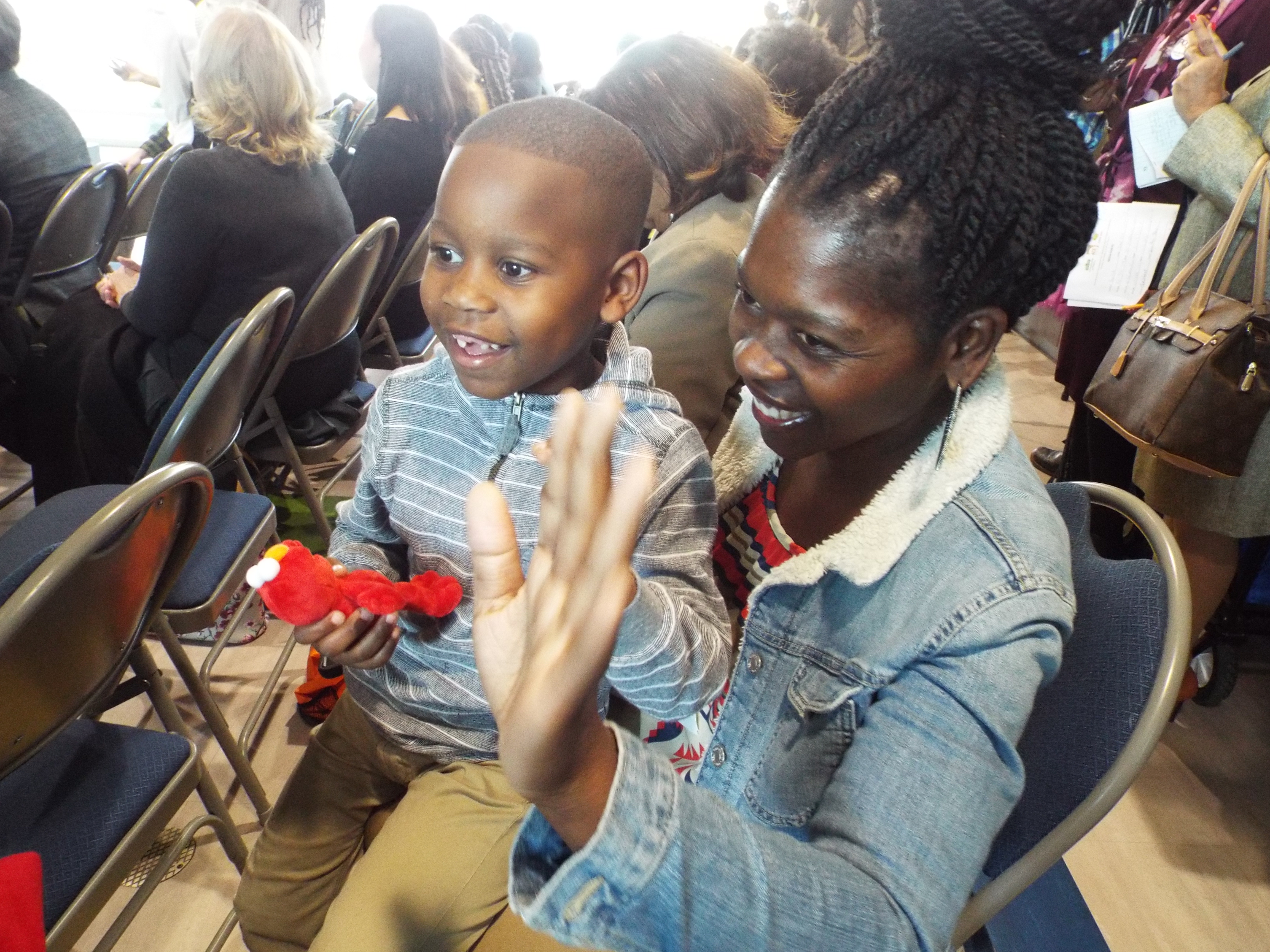 Five-year-old Tailor Jackson can barely stay in his mother's lap when Elmo enters the room. The furry, red-haired monster was on hand Tuesday as early education leaders in Memphis announced a new partnership with Sesame Street in Communities.