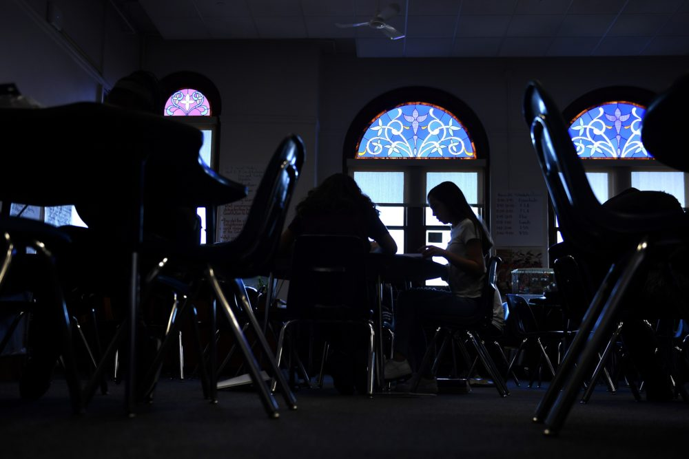 Students in class at Dora Moore ECE-8 during the second day of the Denver Public Schools teachers strike.