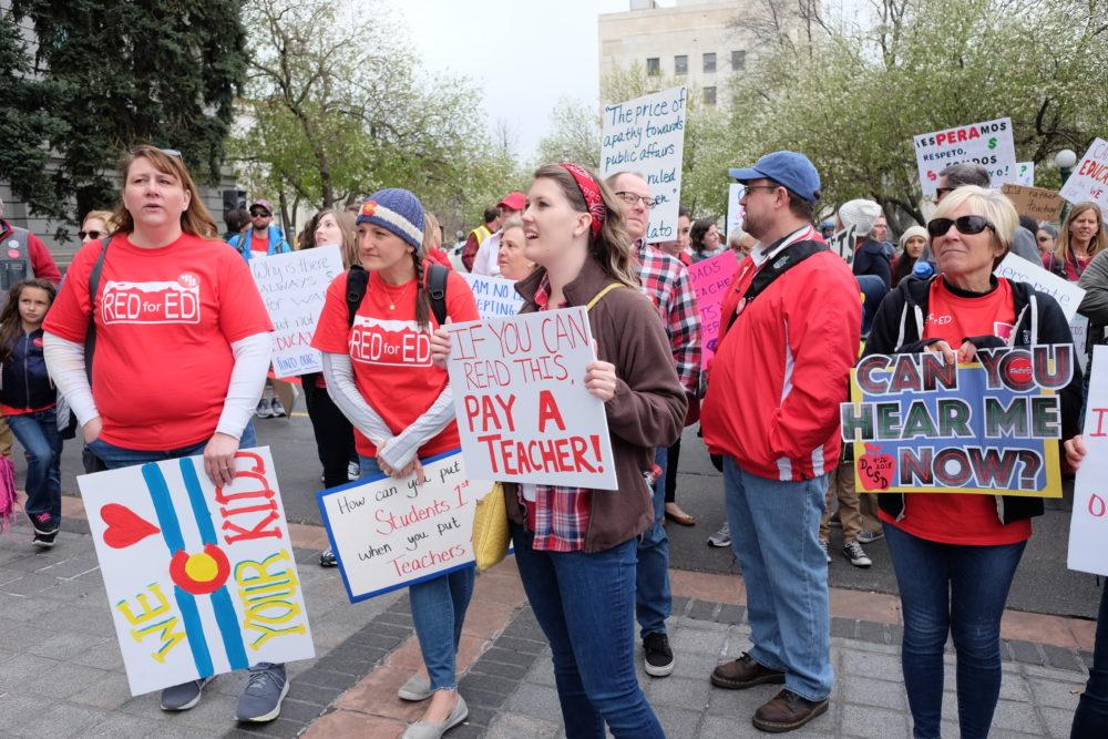 Colorado teachers protest school funding. (Erica Meltzer/Chalkbeat)