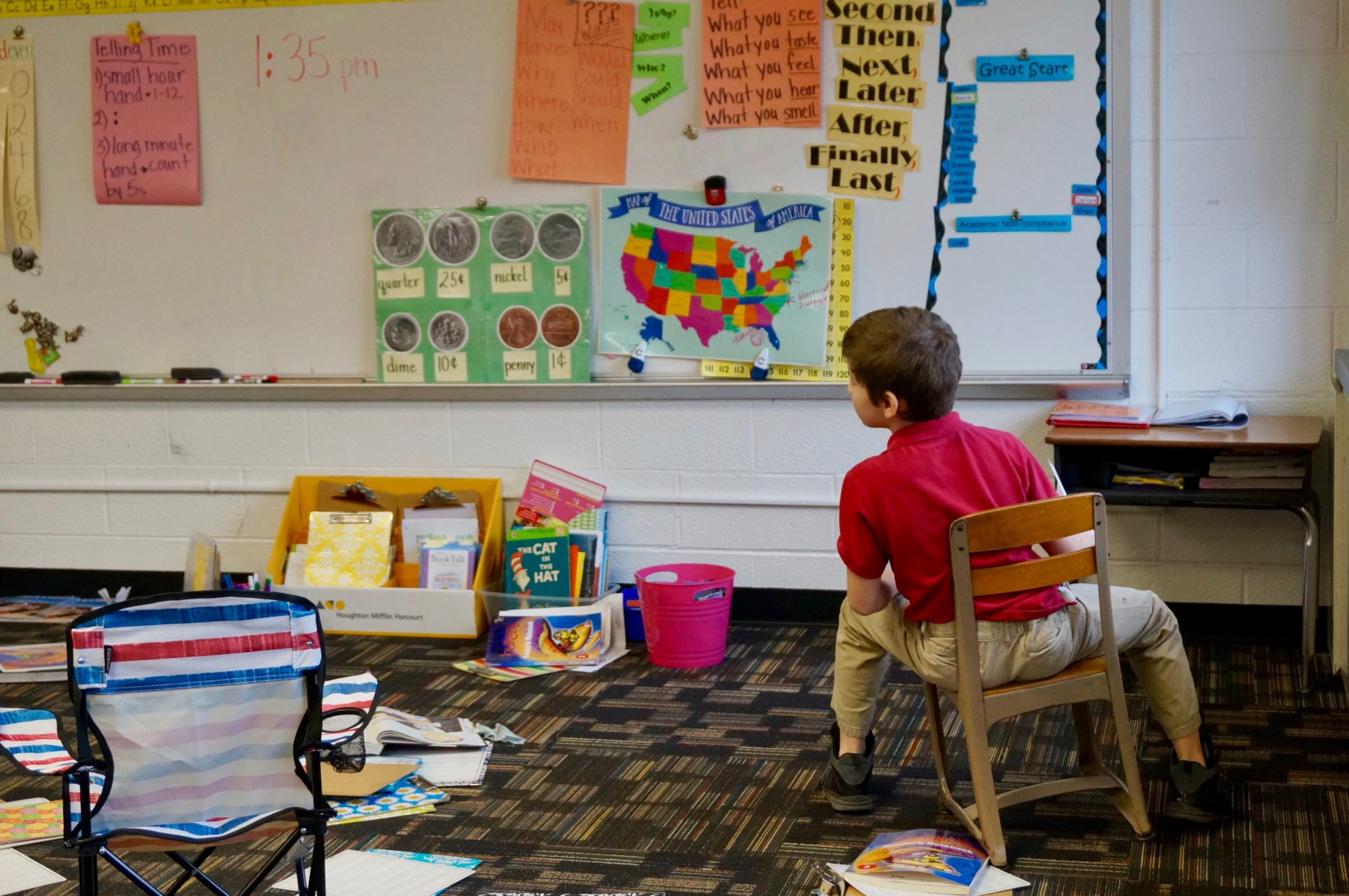 A second grade student at School 93, an innovation school in Indianapolis Public Schools.
