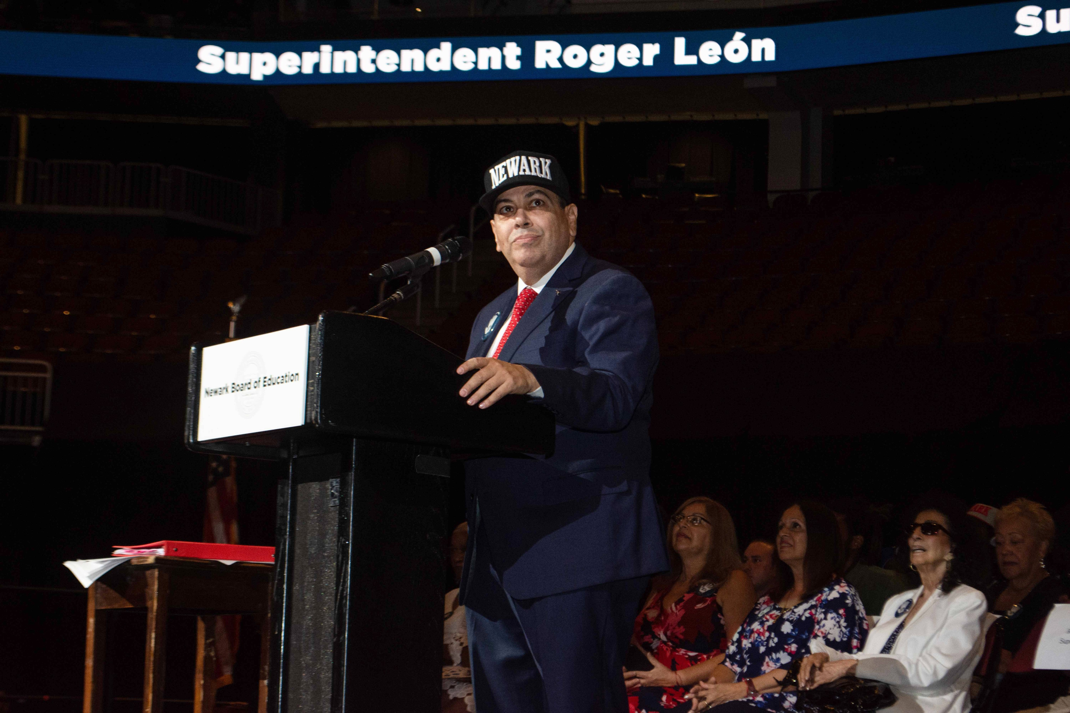 """A few weeks after taking the reins of the Newark school system last July, Roger León told thousands of district employees: """"I'm the boss."""""""