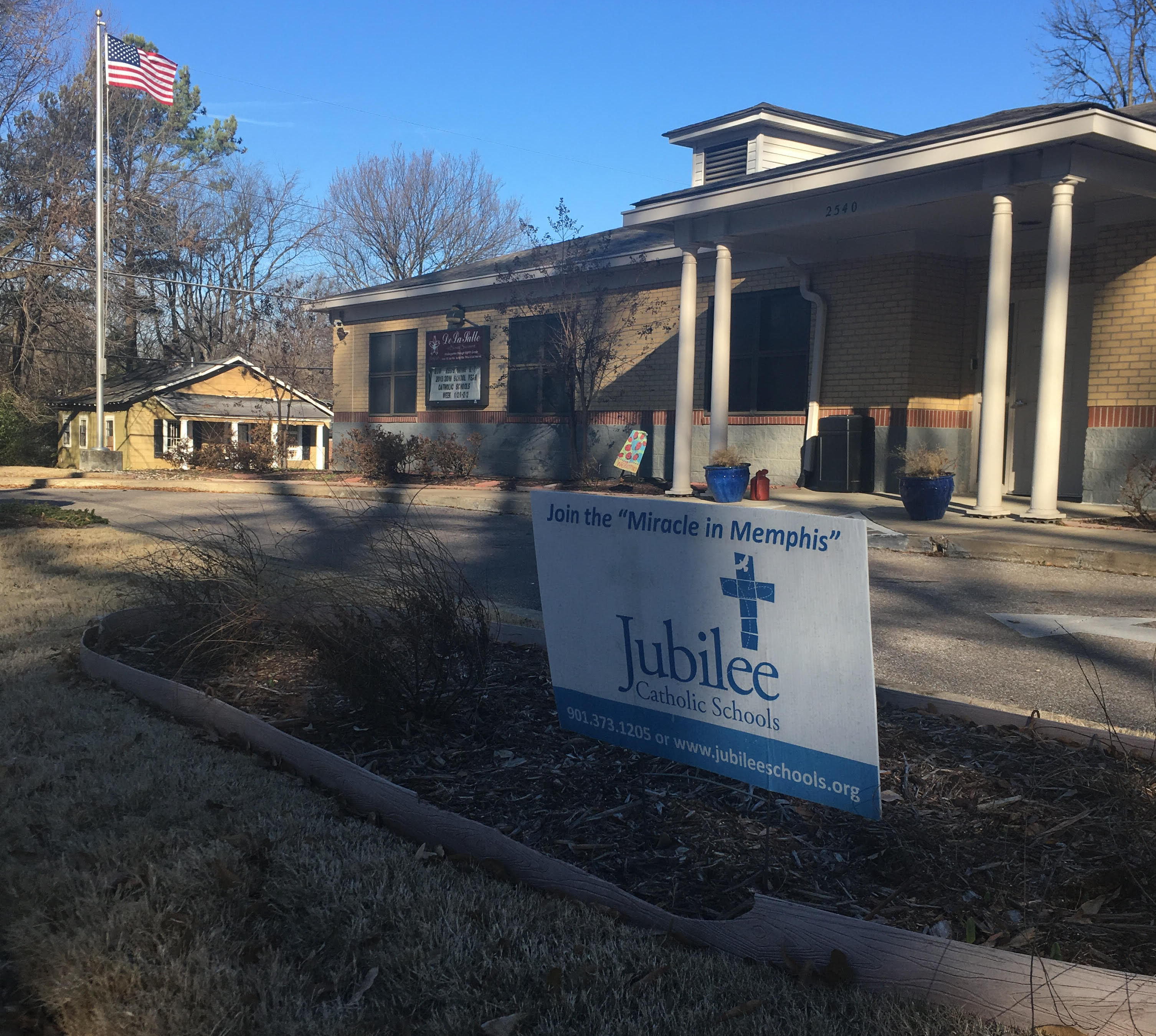 This private Catholic school in Binghampton is one of six that New Day Schools wants to convert into a charter school.