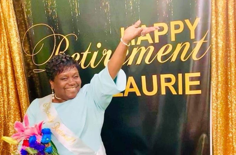 Laurie Kingsberry, a veteran New York City educator, at one of her retirement parties.