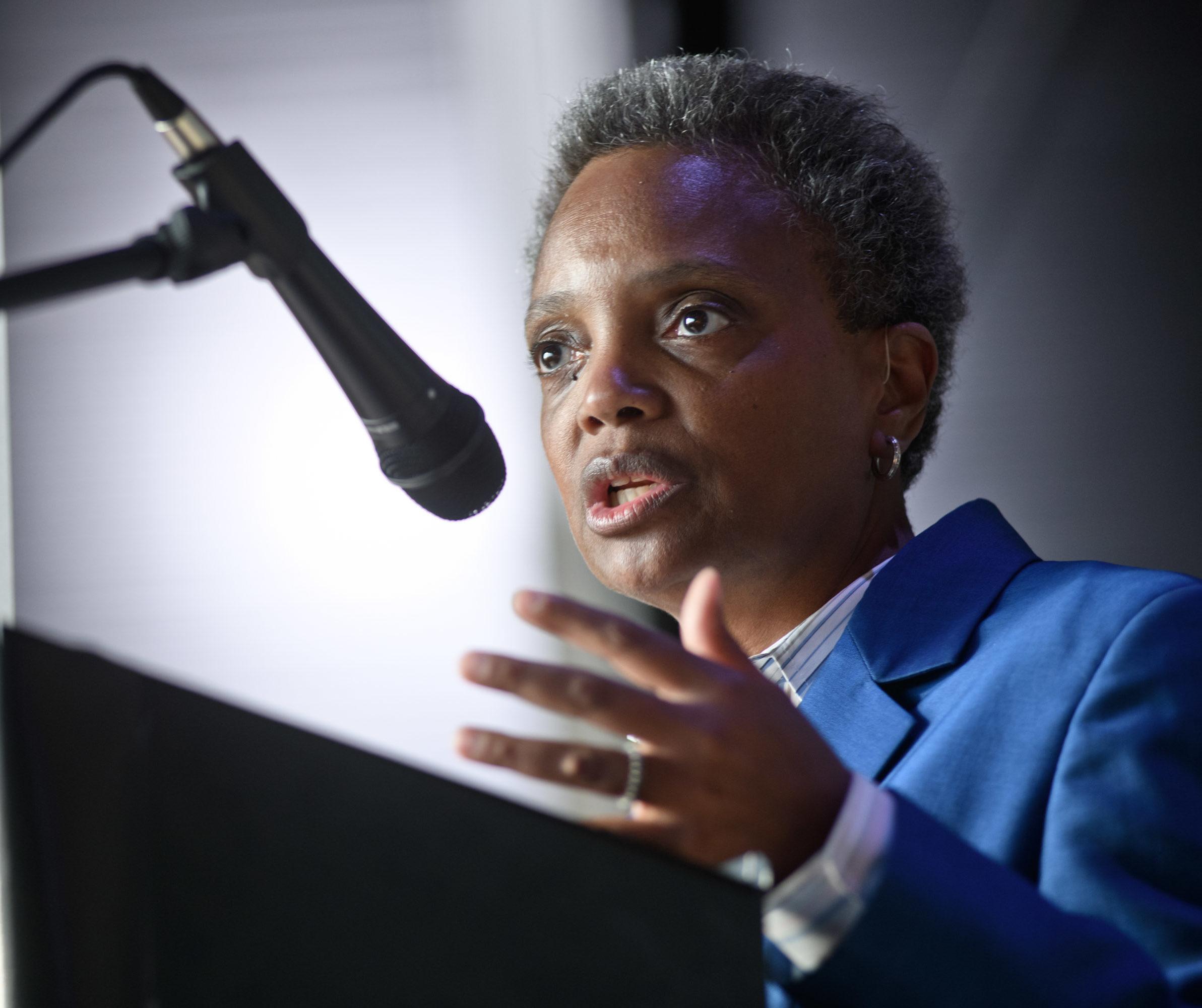 Chicago Mayor Lori Lightfoot (Photo by Timothy Hiatt/Getty Images)