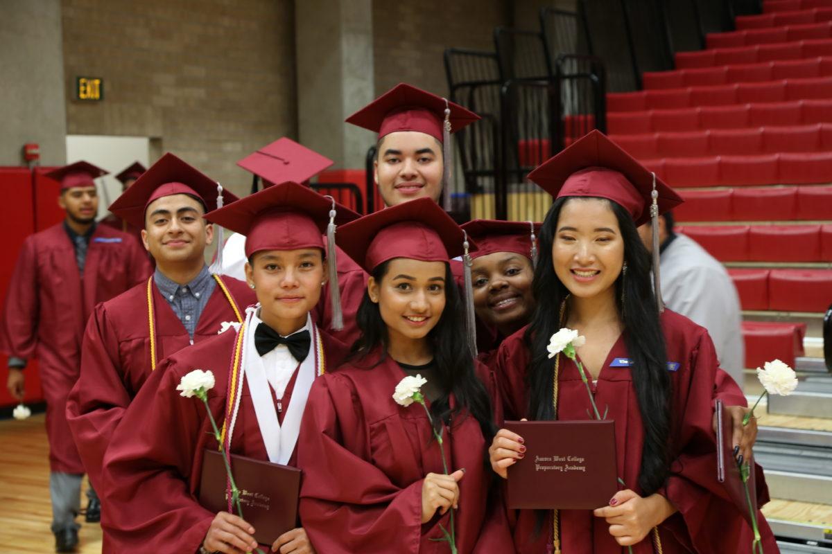 Aurora West College Preparatory Academy graduates of 2018. The school had a 100 percent graduation rate.