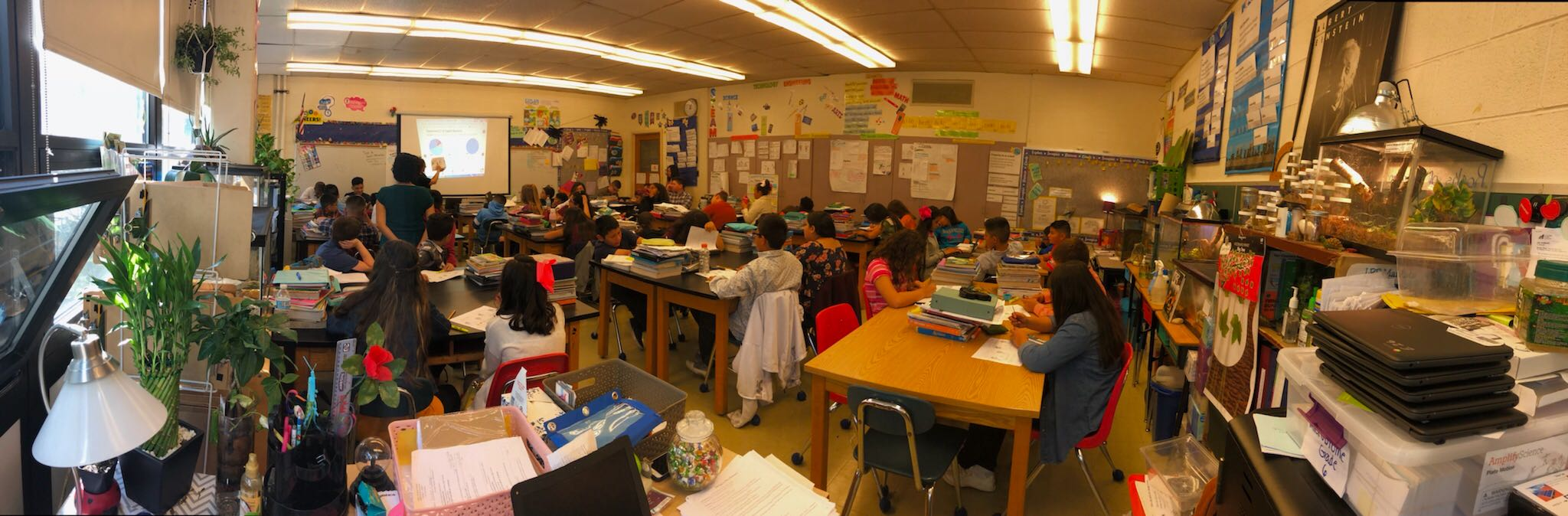 A classroom with 45 students at Grissom Elementary in Hegewisch