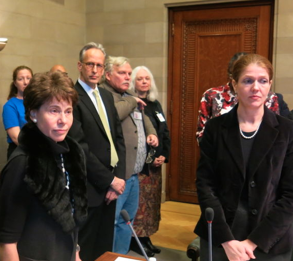 Former Chancellor Merryl Tisch with Beth Berlin, right.