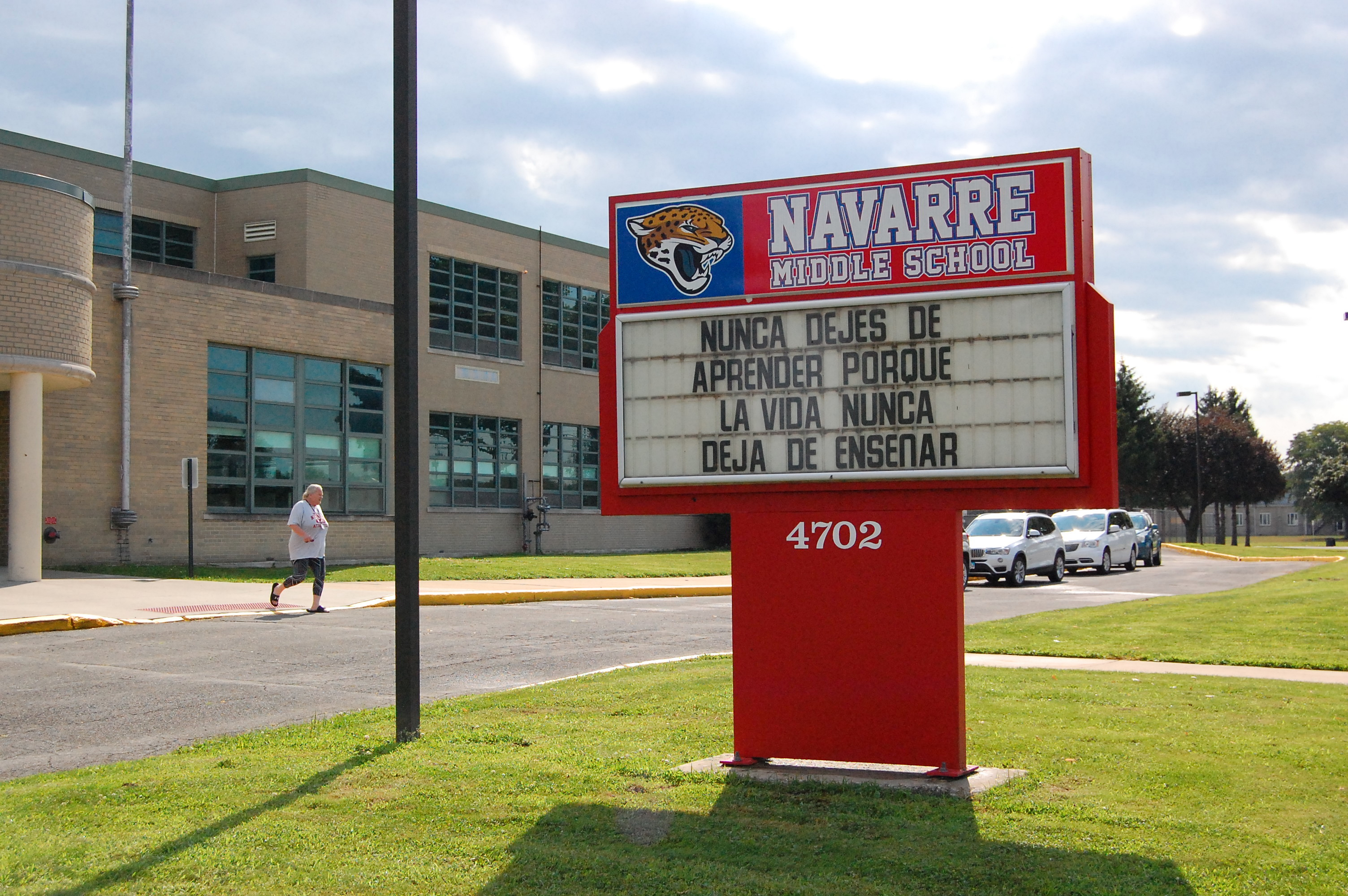 Navarre Middle School enrolls Latino students and English learners at twice the rate of the South Bend, Indiana school district.