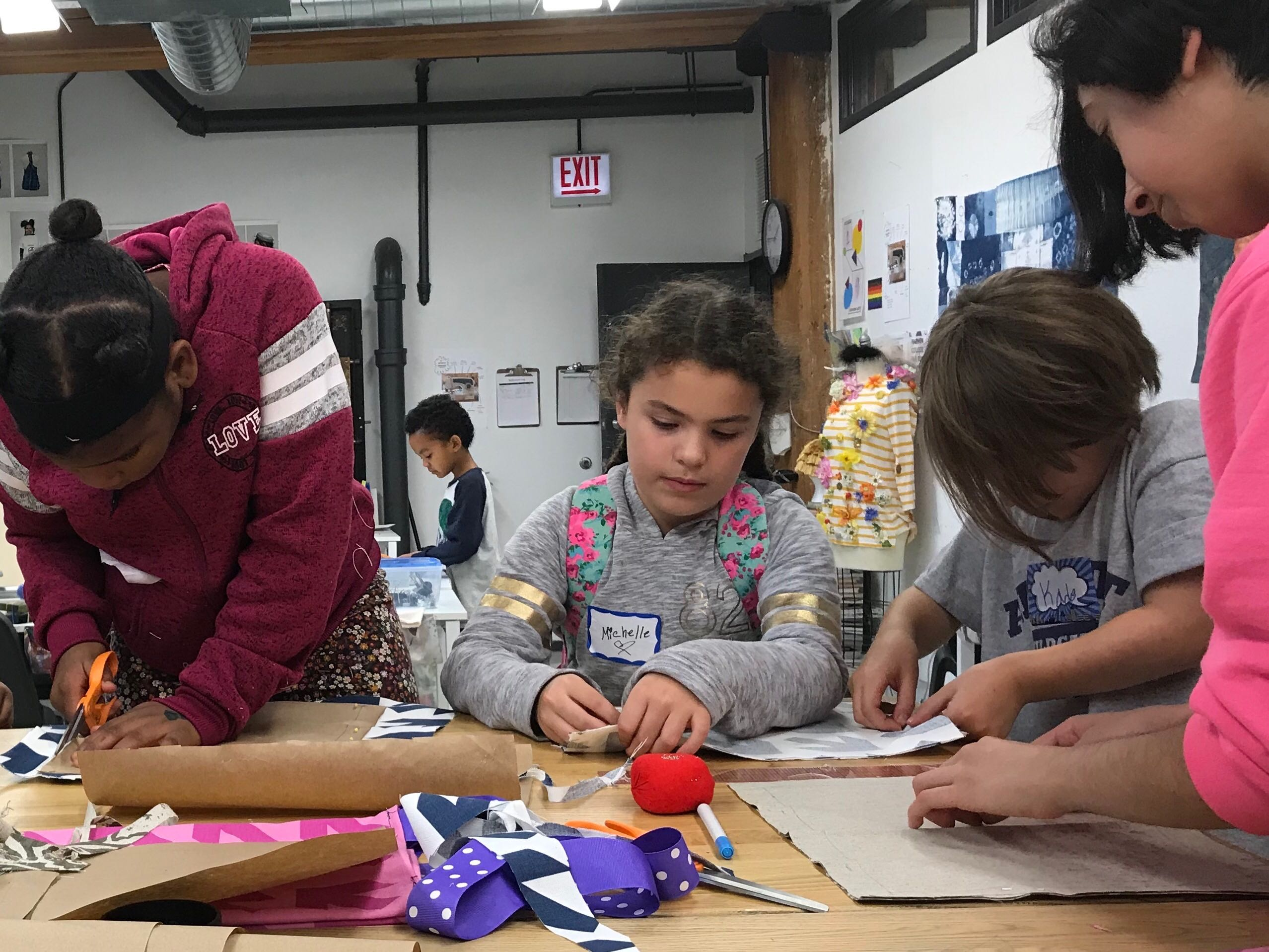 On Day Three of the Chicago teachers strike on Oct. 21, 2019, the non-profit youth center Marwen near Cabrini-Green expanded services, offering arts to students in second grade and up.